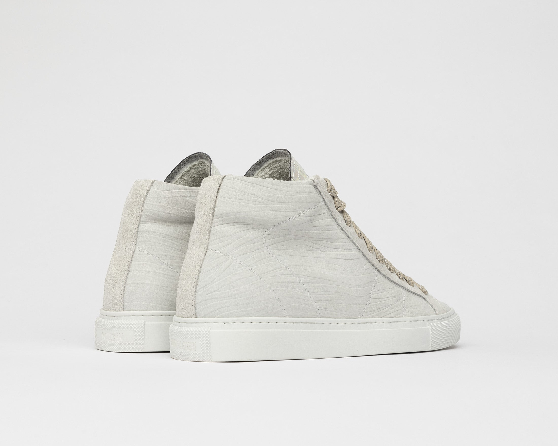 Star High-Top Sneaker in White Zebra - Back