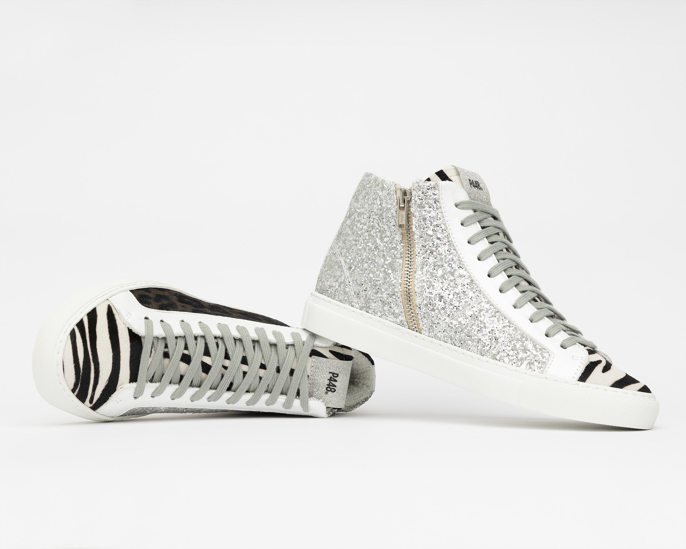 StarBS High-Top Sneaker in Leopard/Silver Glitter - Detail 1