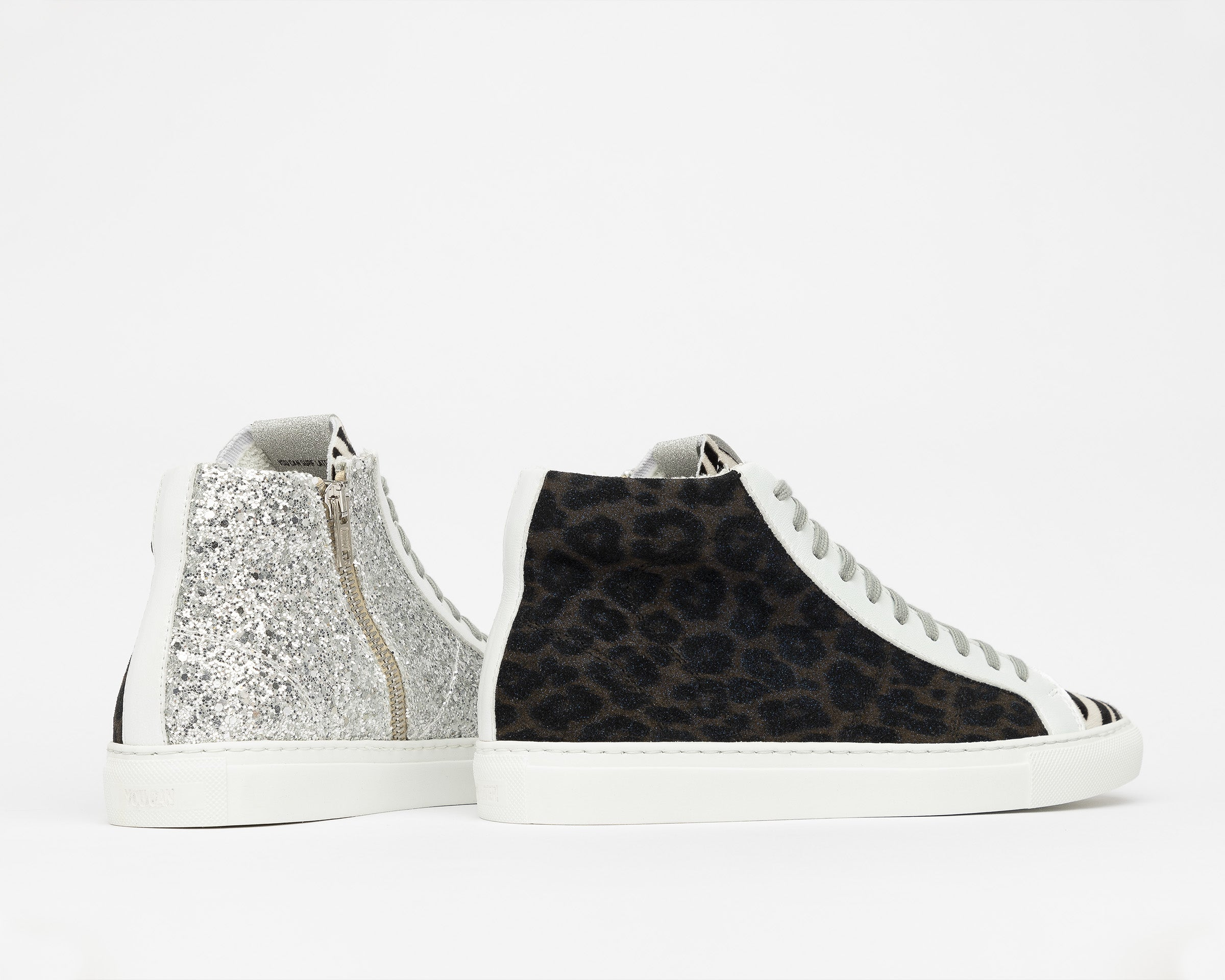 StarBS High-Top Sneaker in Leopard/Silver Glitter - Detail 2