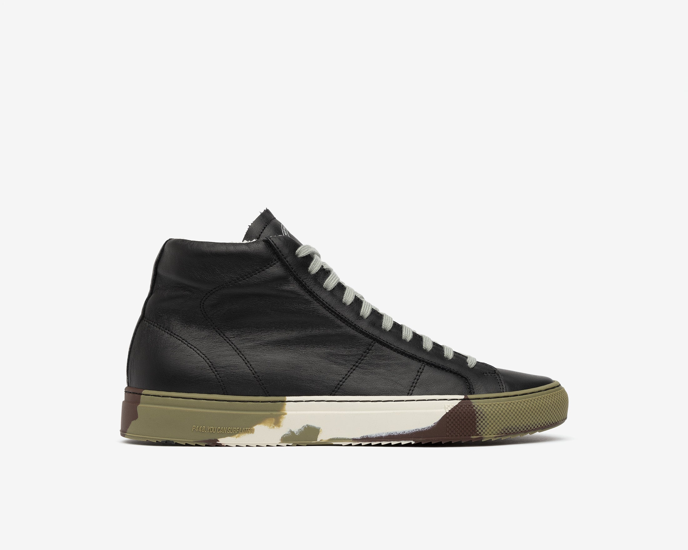 Star High-Top Sneaker in Black/Camo - Profile