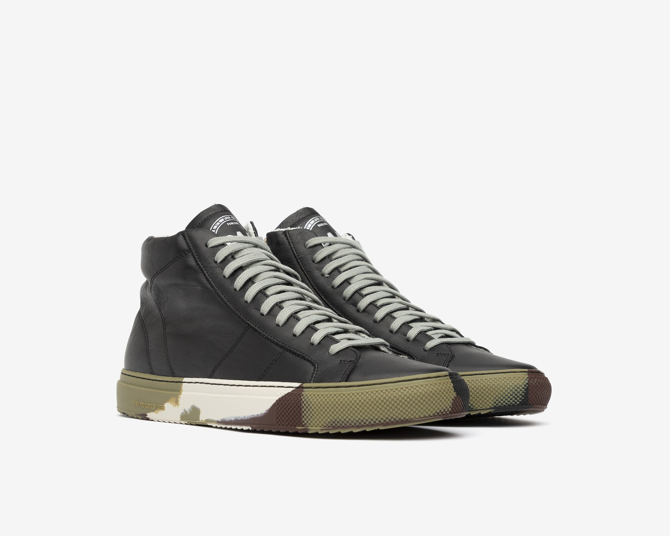 Star High-Top Sneaker in Black/Camo - Side