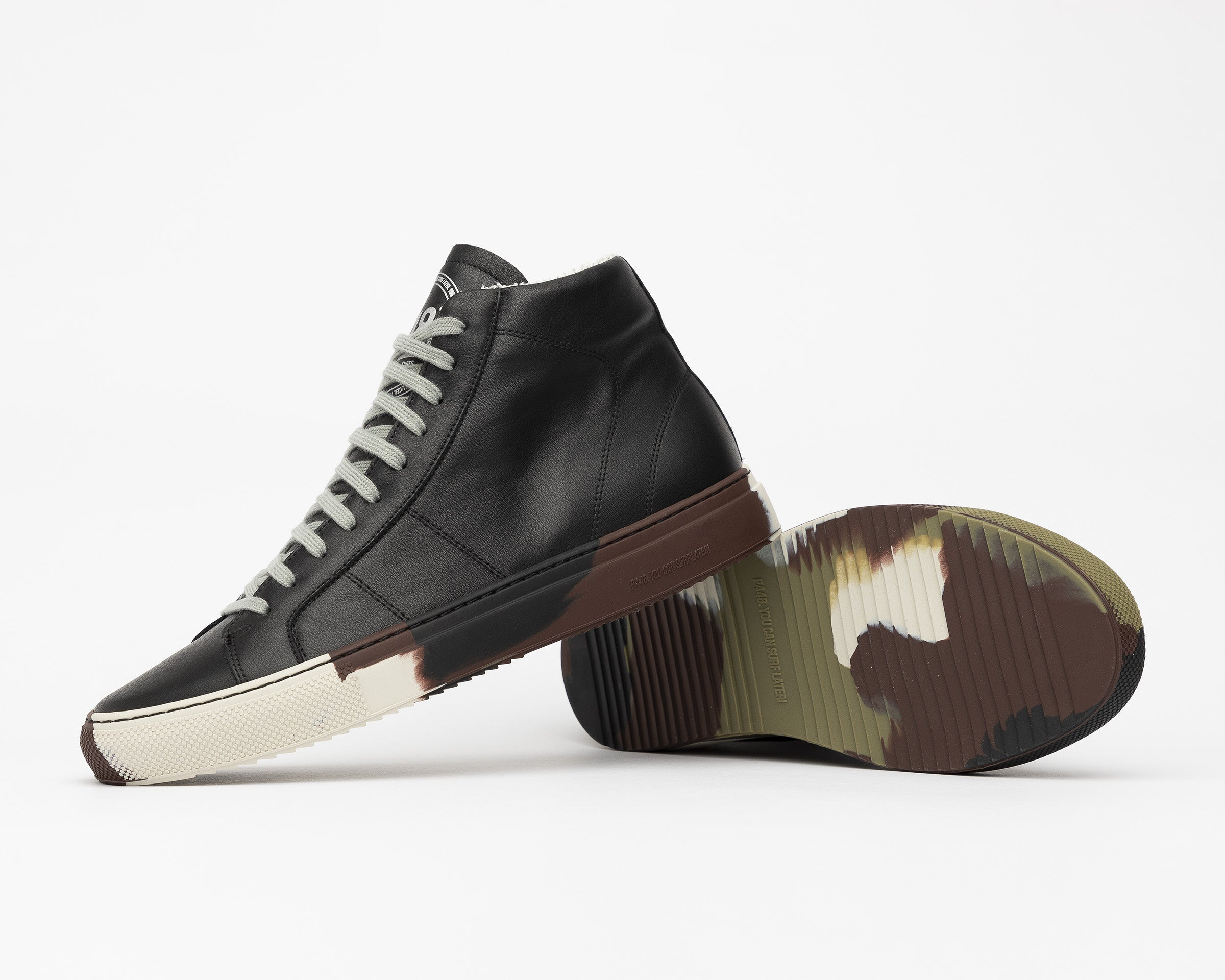 Star High-Top Sneaker in Black/Camo - Detail2