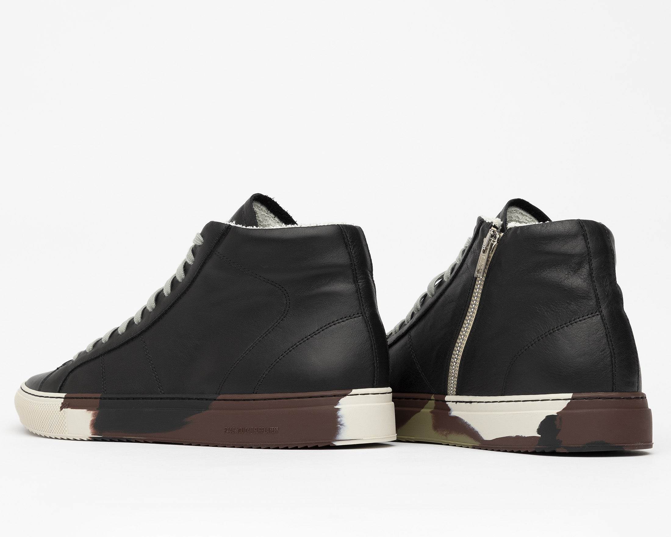 Star High-Top Sneaker in Black/Camo - Back