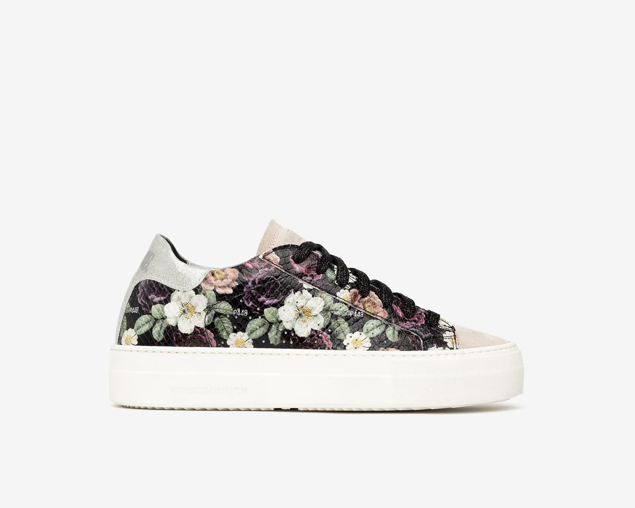 Thea Platform Sneaker in Flower - Profile