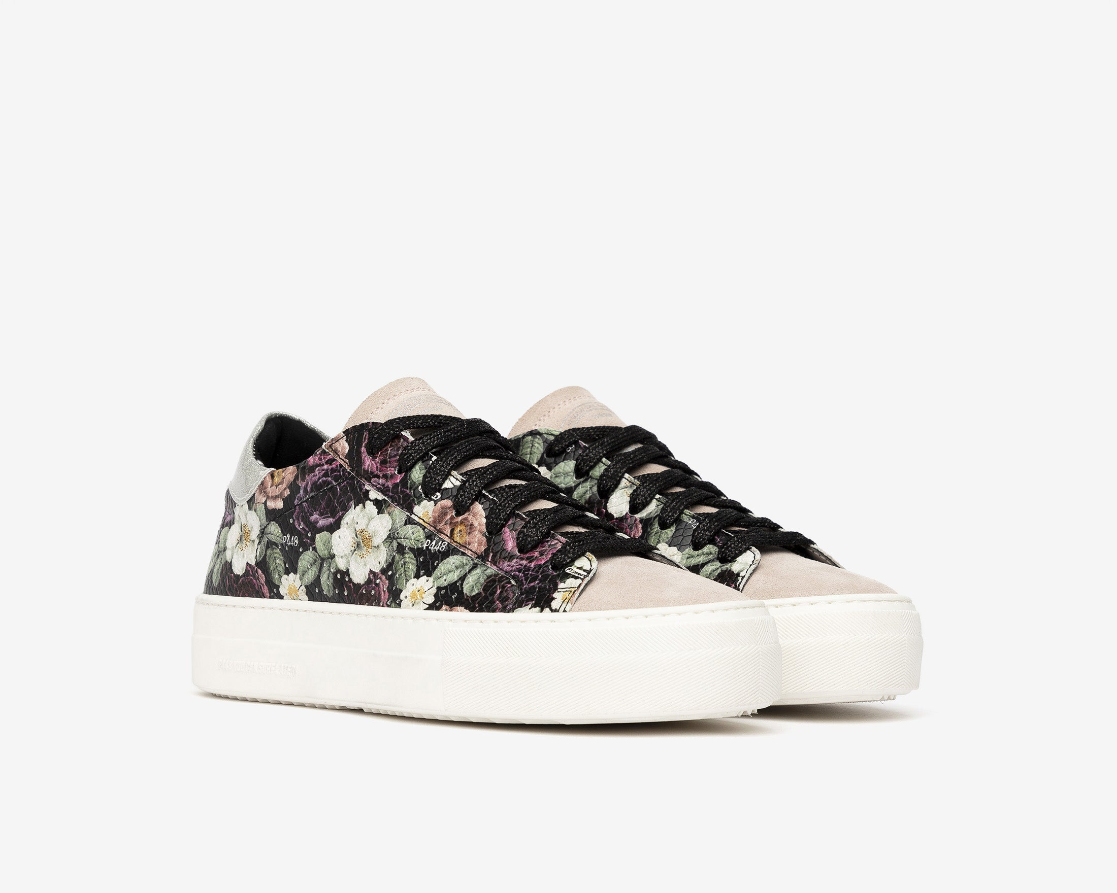 Thea Platform Sneaker in Flower - Side
