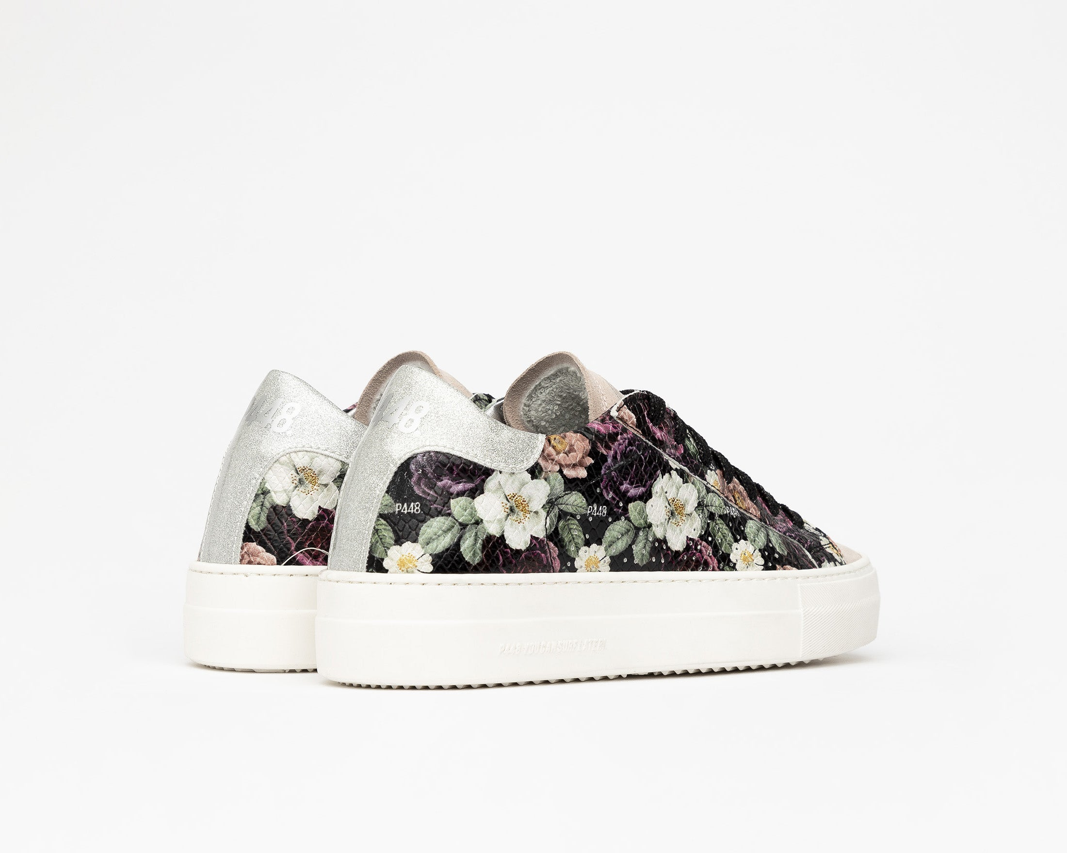 Thea Platform Sneaker in Flower - Back