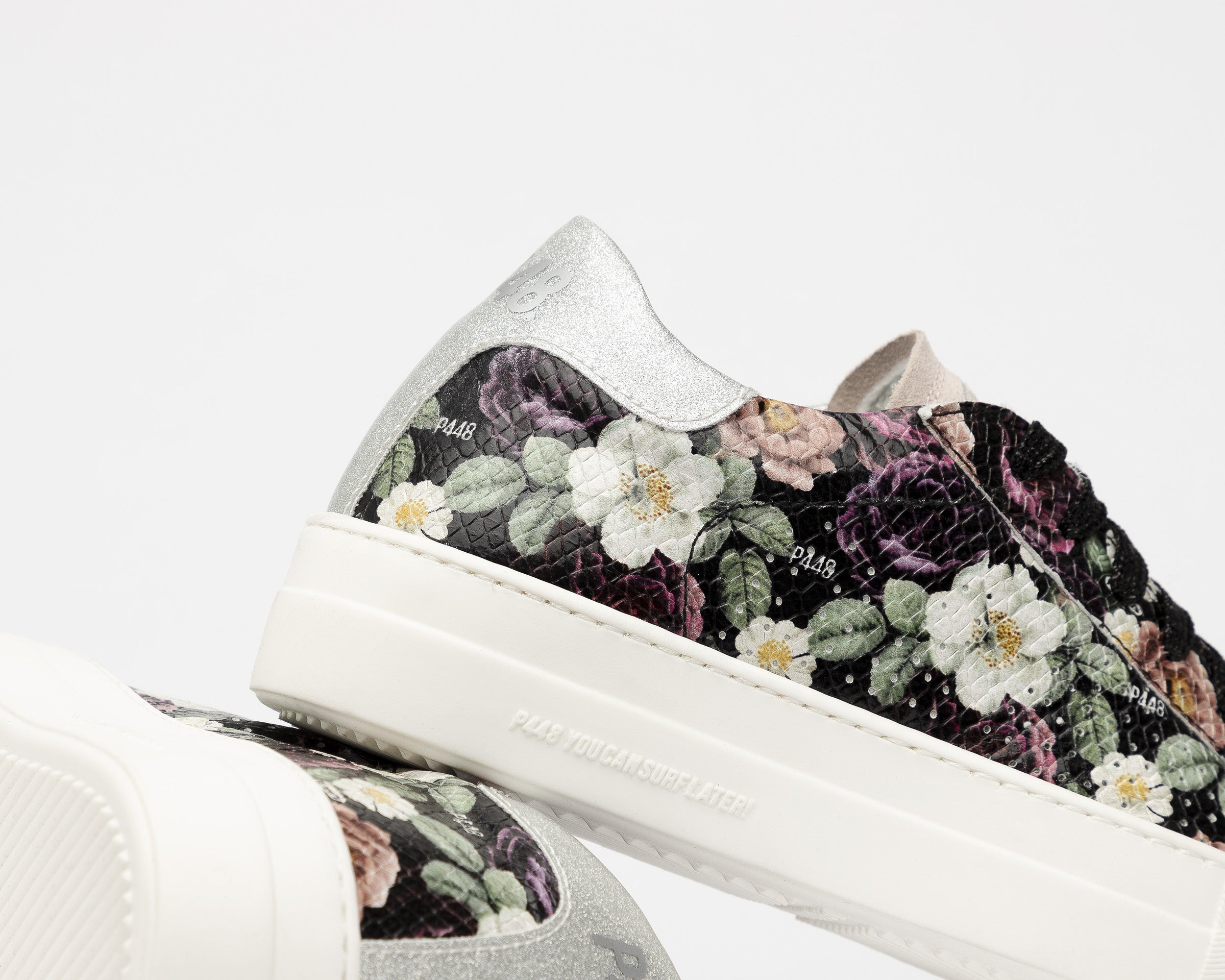 Thea Platform Sneaker in Flower - Detail 2