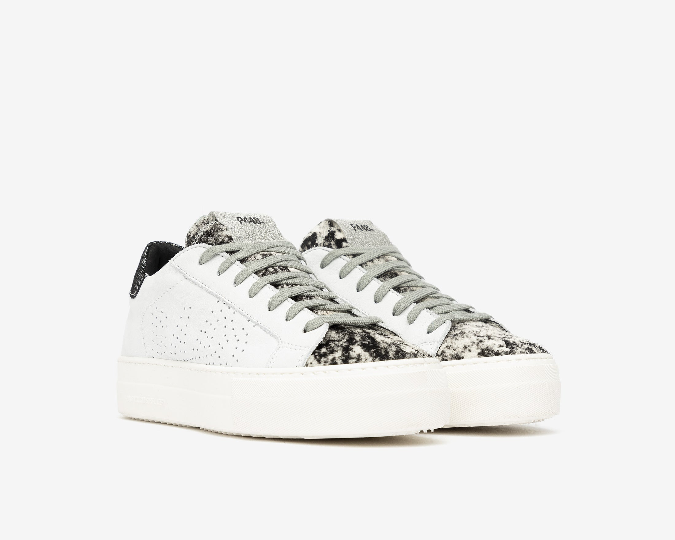Thea Platform Sneaker in White/Jafar - Side