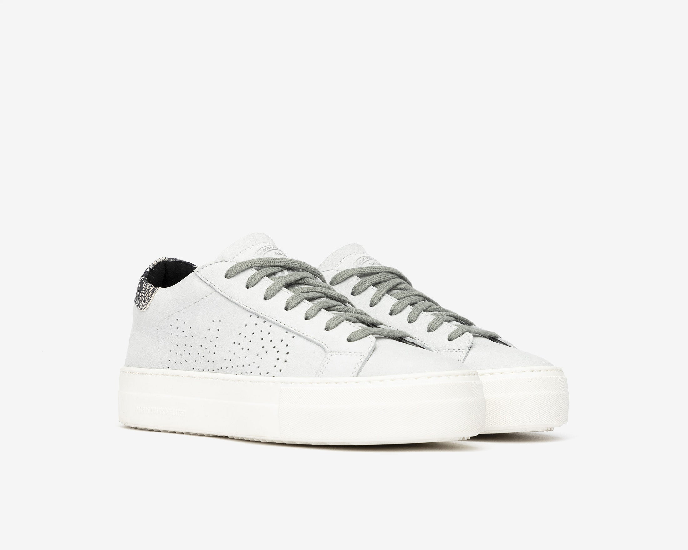 Thea Platform Sneaker in White/Twister Python - Side