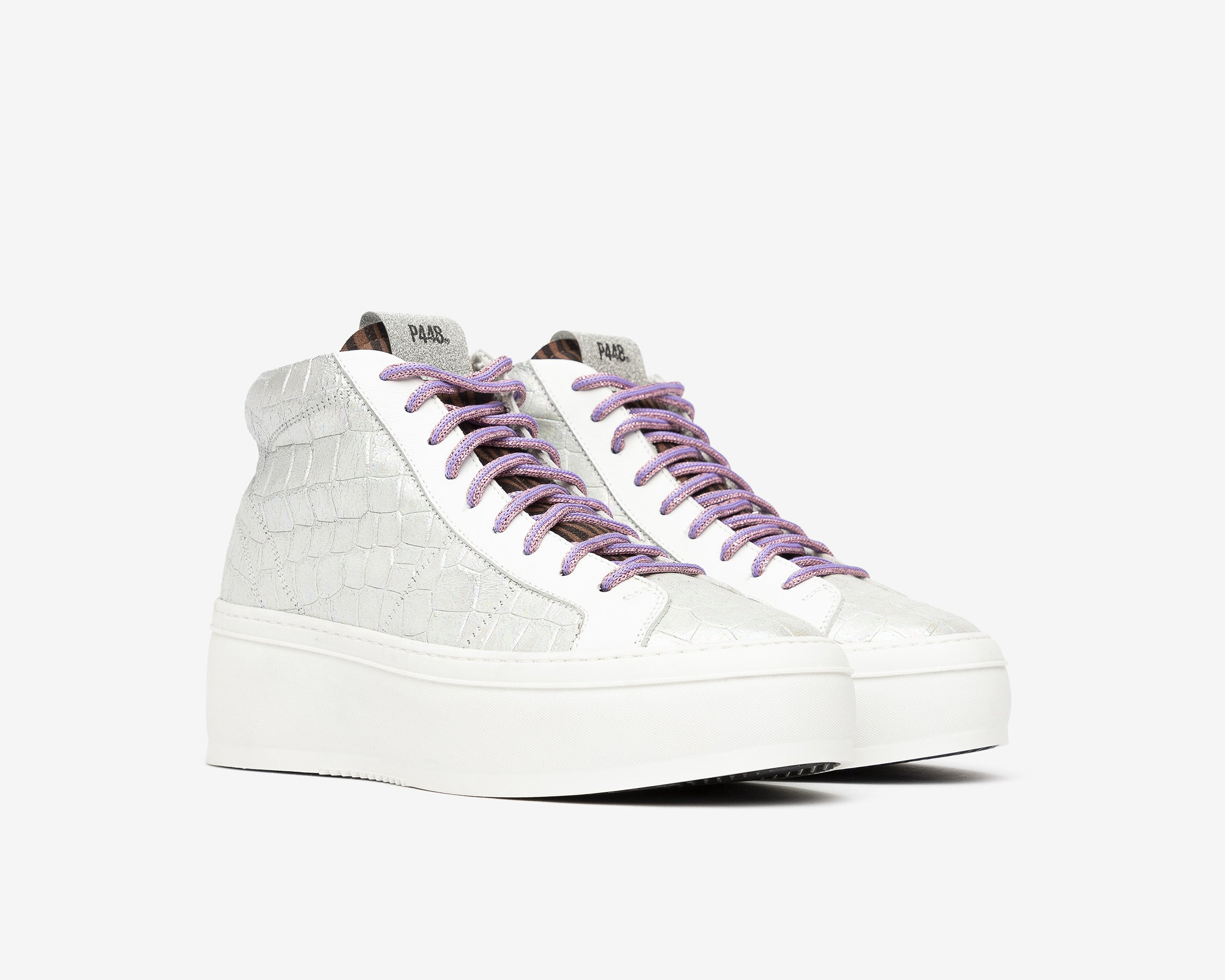 Vicky High-Top Platform Sneaker in Naicut - Side