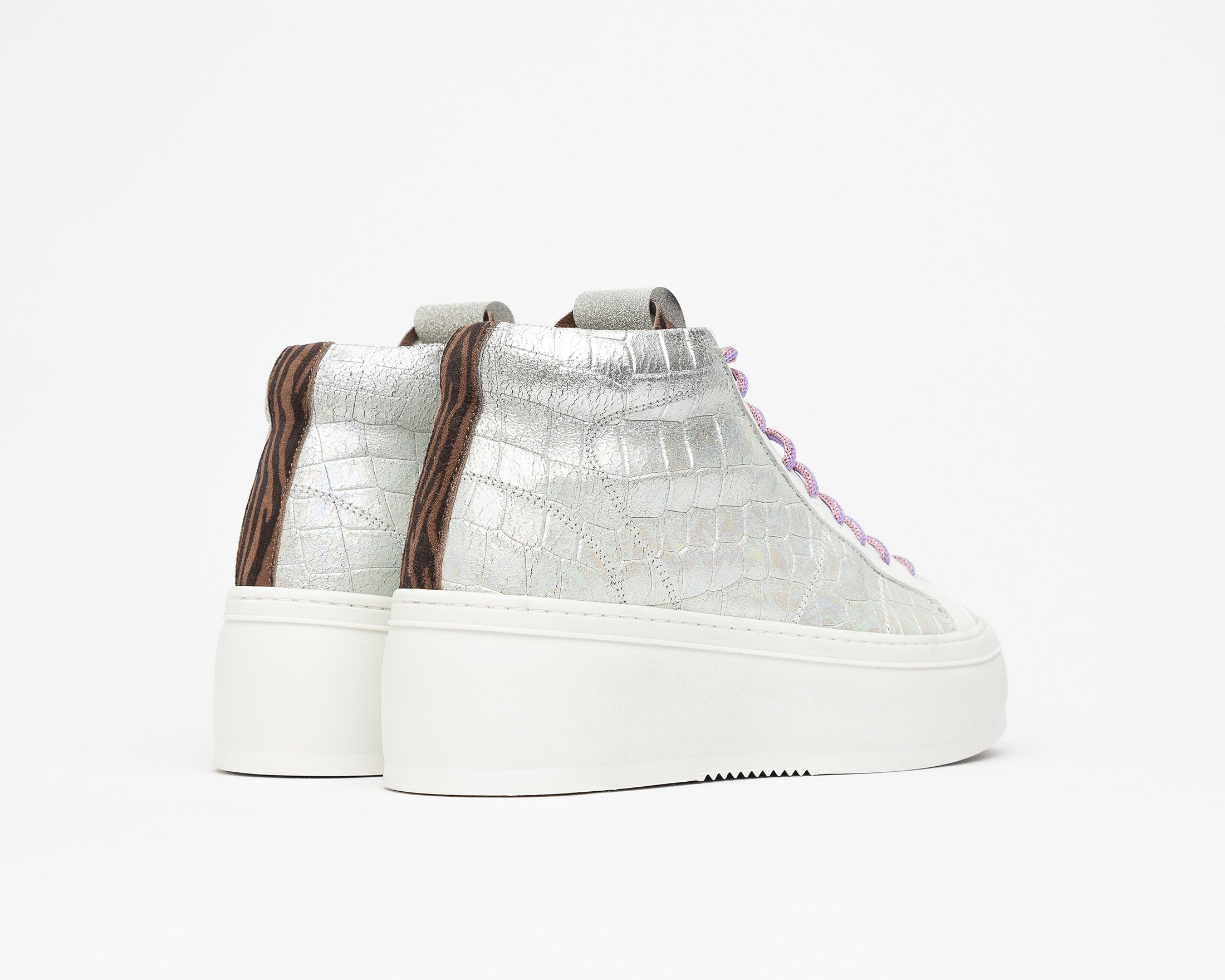 Vicky High-Top Platform Sneaker in Naicut - Back