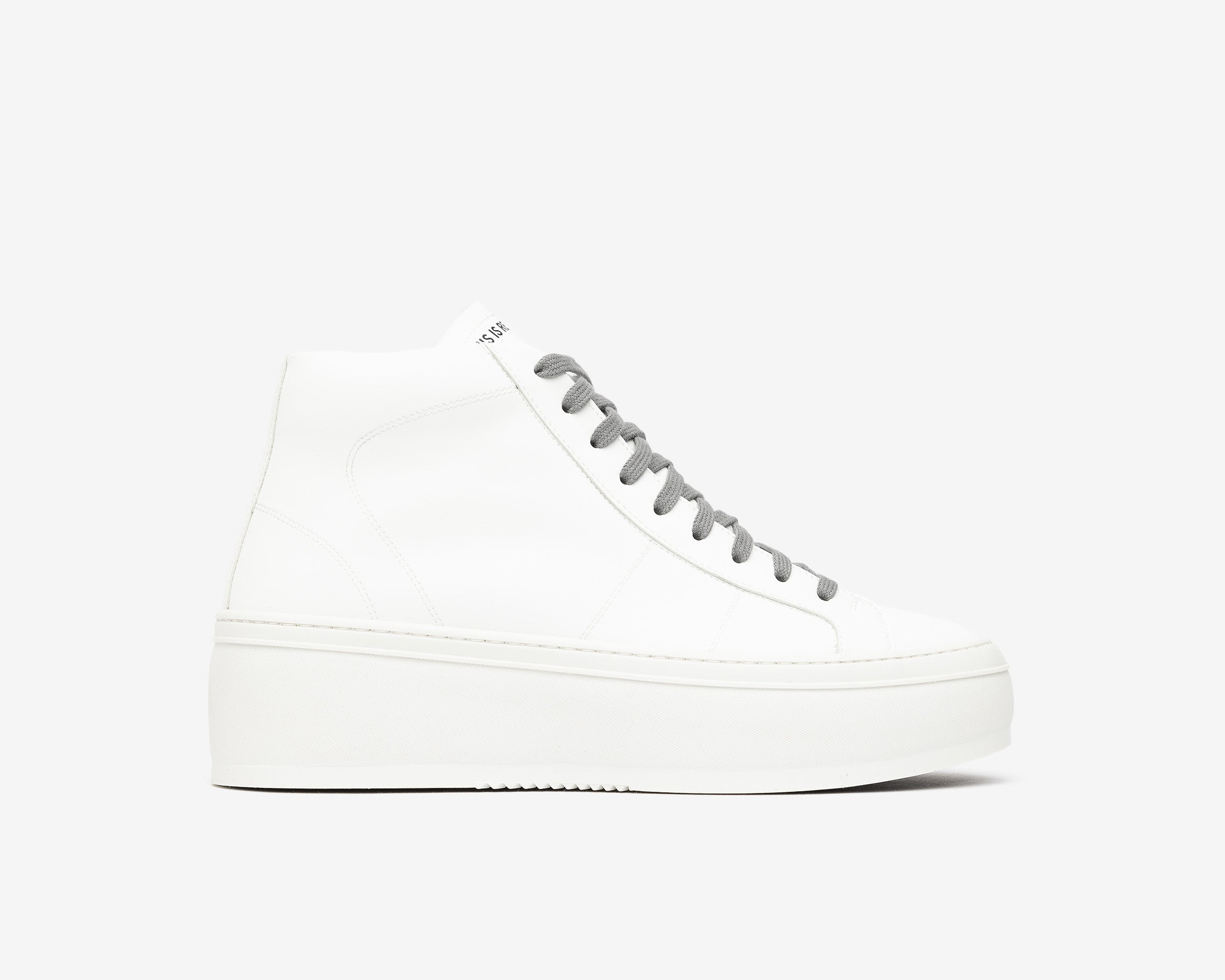 Vicky High-Top Platform Sneaker in WhiteR - Profile
