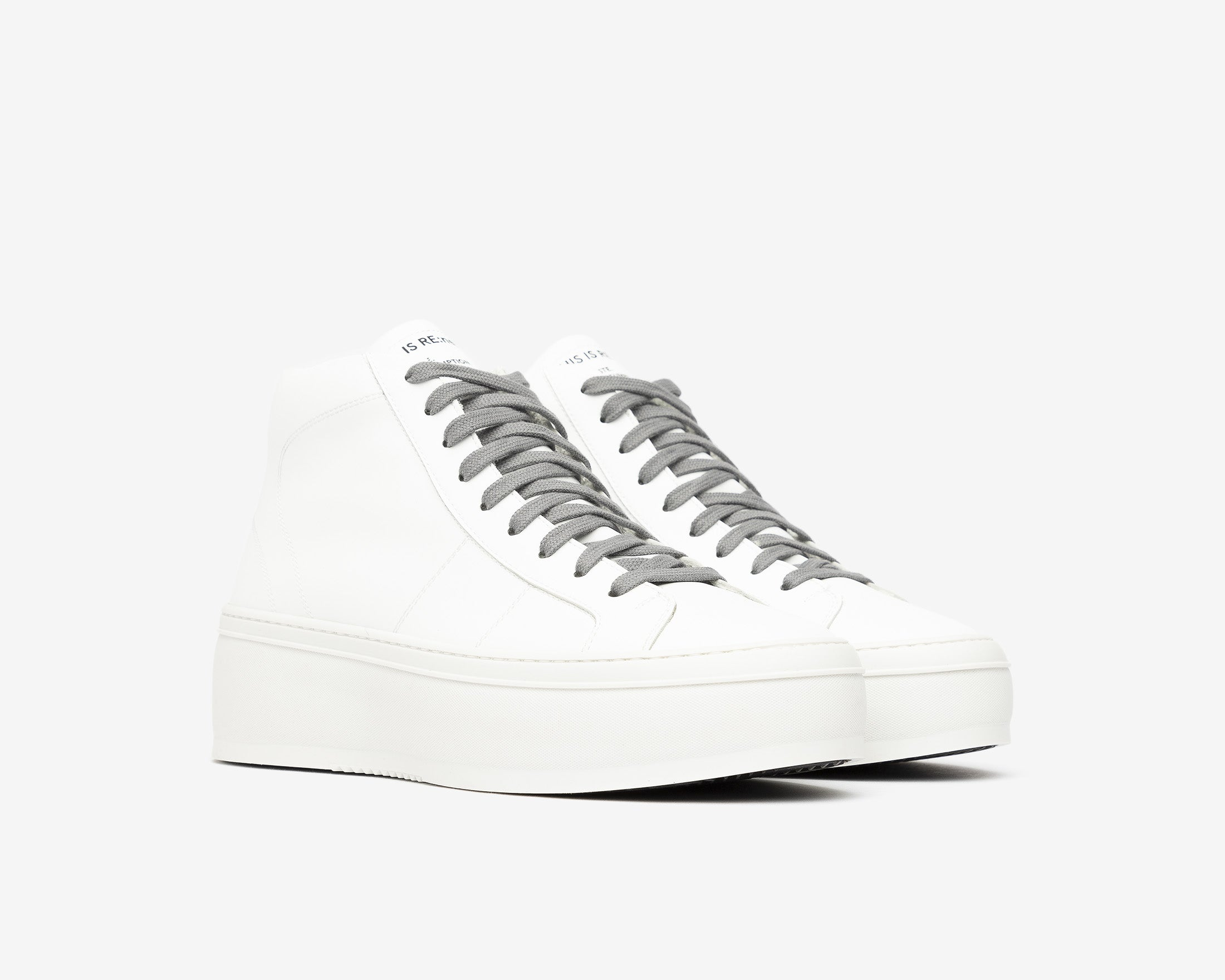 Vicky High-Top Platform Sneaker in WhiteR - Side