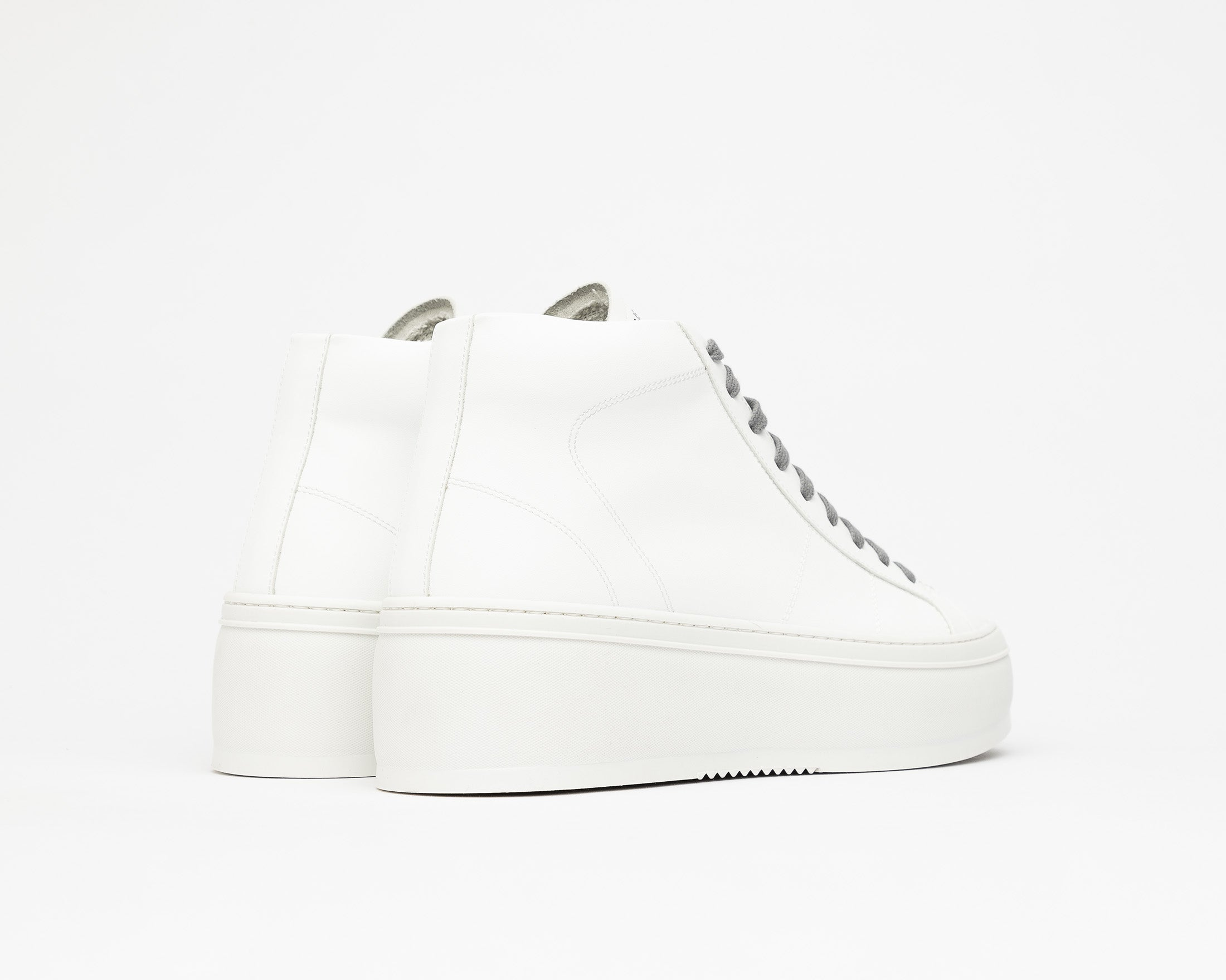 Vicky High-Top Platform Sneaker in WhiteR - Back