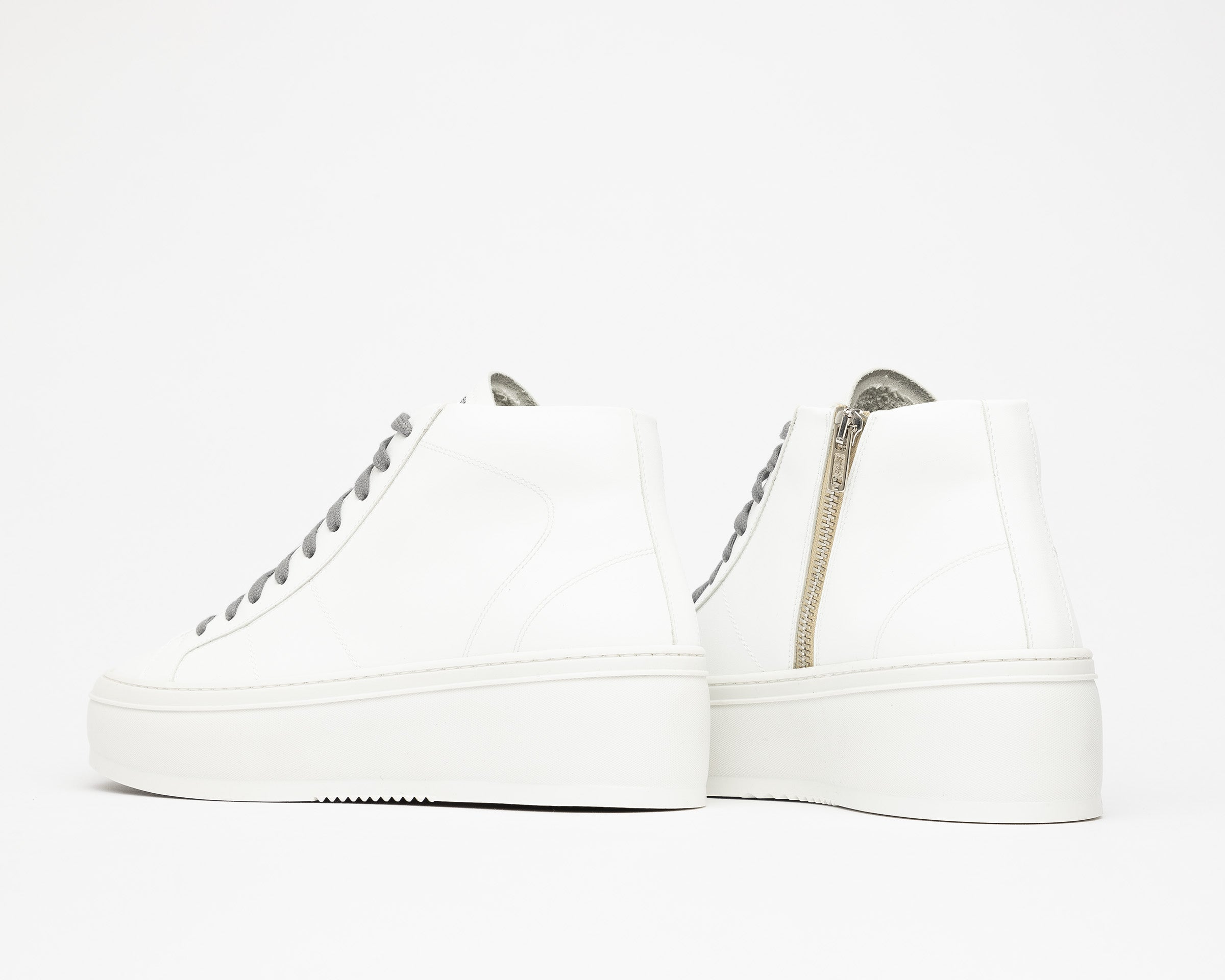 Vicky High-Top Platform Sneaker in WhiteR - Detail 1