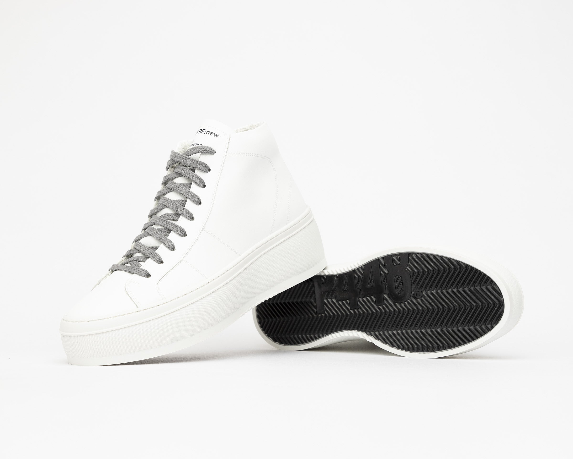Vicky High-Top Platform Sneaker in WhiteR - Detail 2