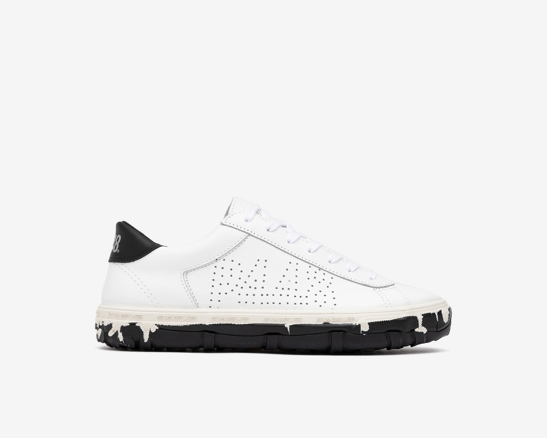 Y.C.S.L. Vibram Low-Top Sneaker in White/Black - Profile