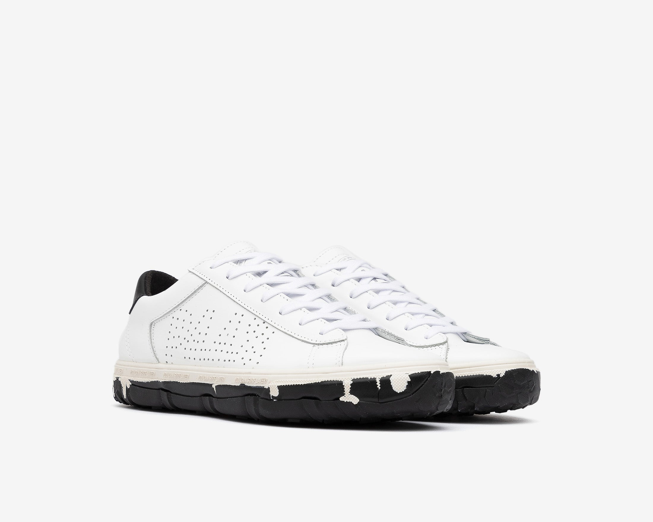 Y.C.S.L. Vibram Low-Top Sneaker in White/Black - Side