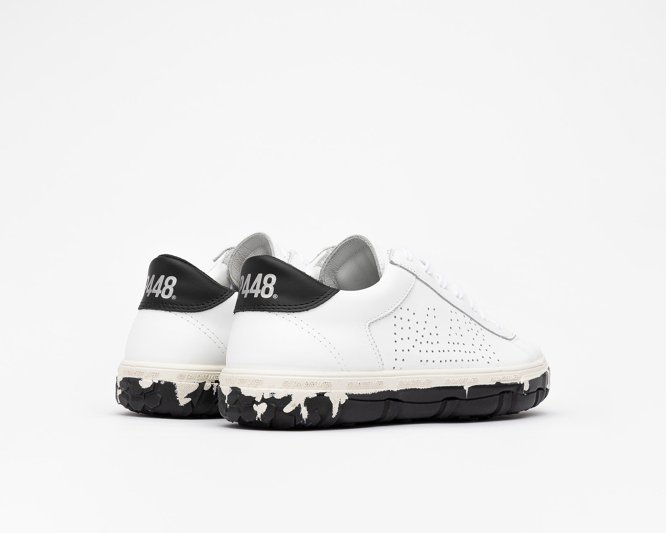 Y.C.S.L. Vibram Low-Top Sneaker in White/Black - Back