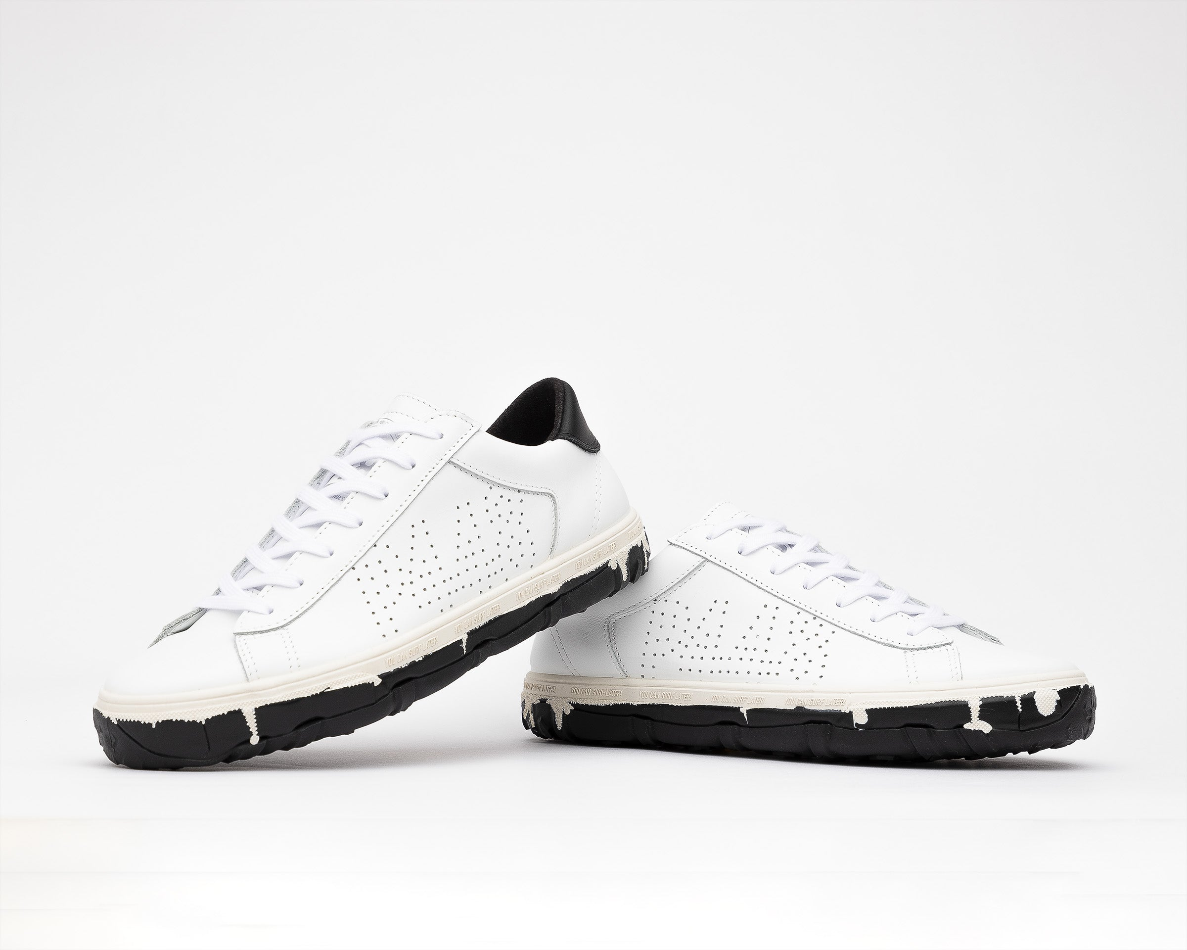 Y.C.S.L. Vibram Low-Top Sneaker in White/Black - Detail