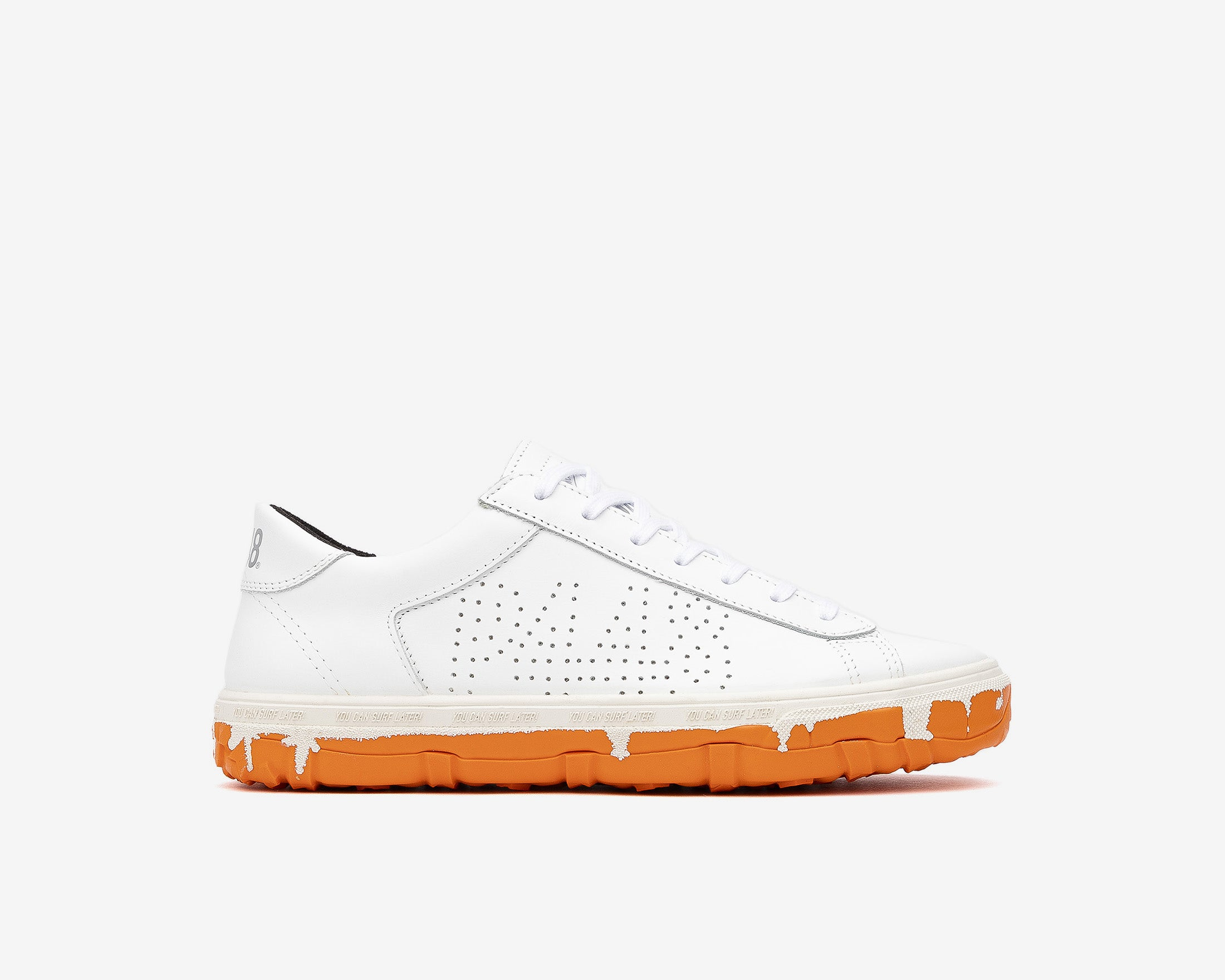 Y.C.S.L. Vibram Low-Top Sneaker in White/Orange - Profile