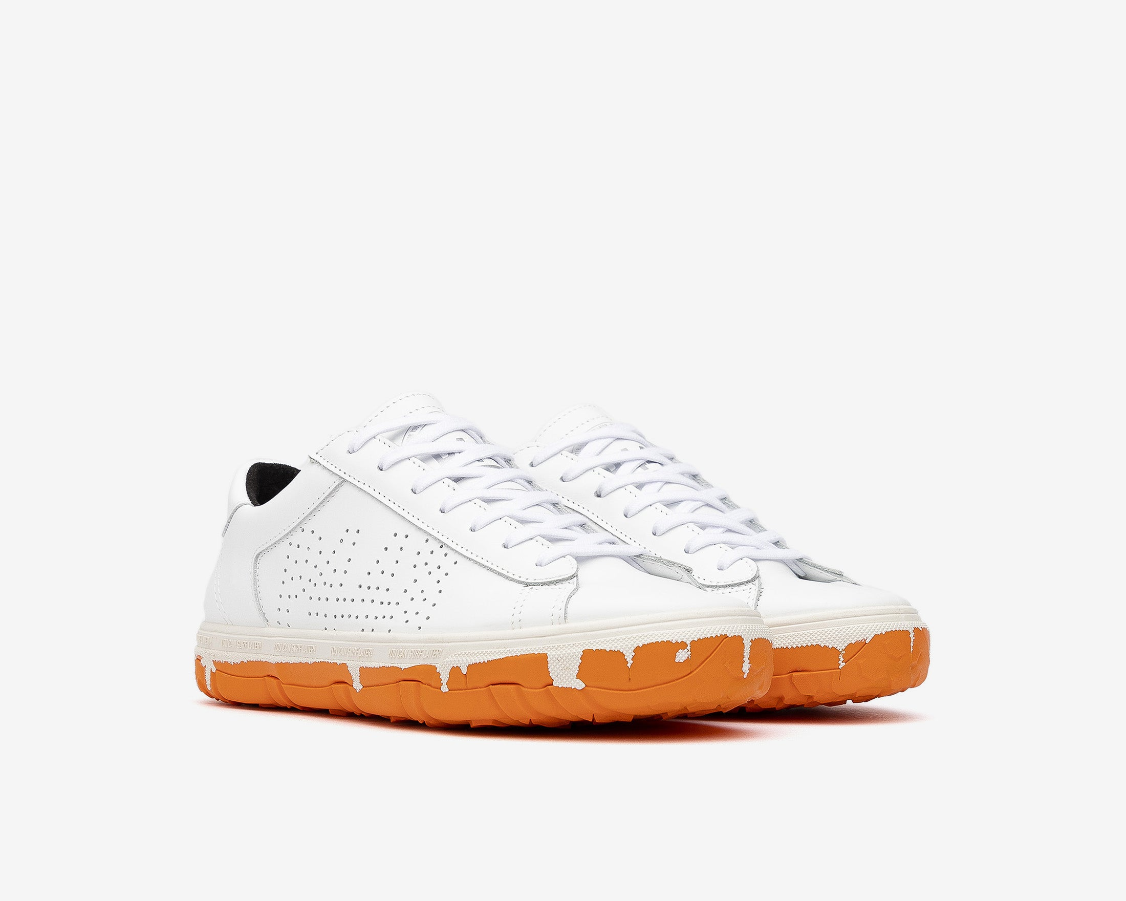 Y.C.S.L. Vibram Low-Top Sneaker in White/Orange - Side
