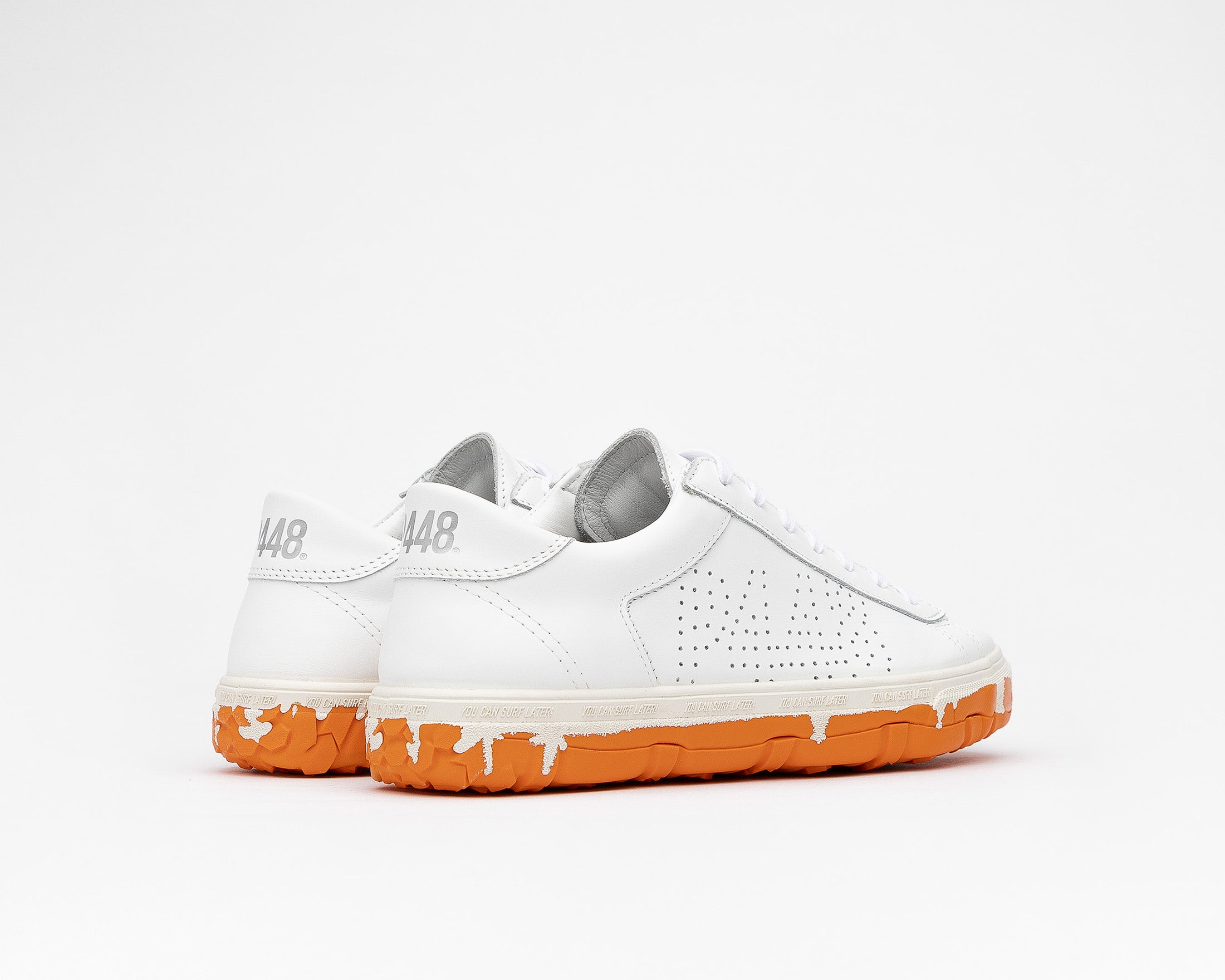 Y.C.S.L. Vibram Low-Top Sneaker in White/Orange - Back