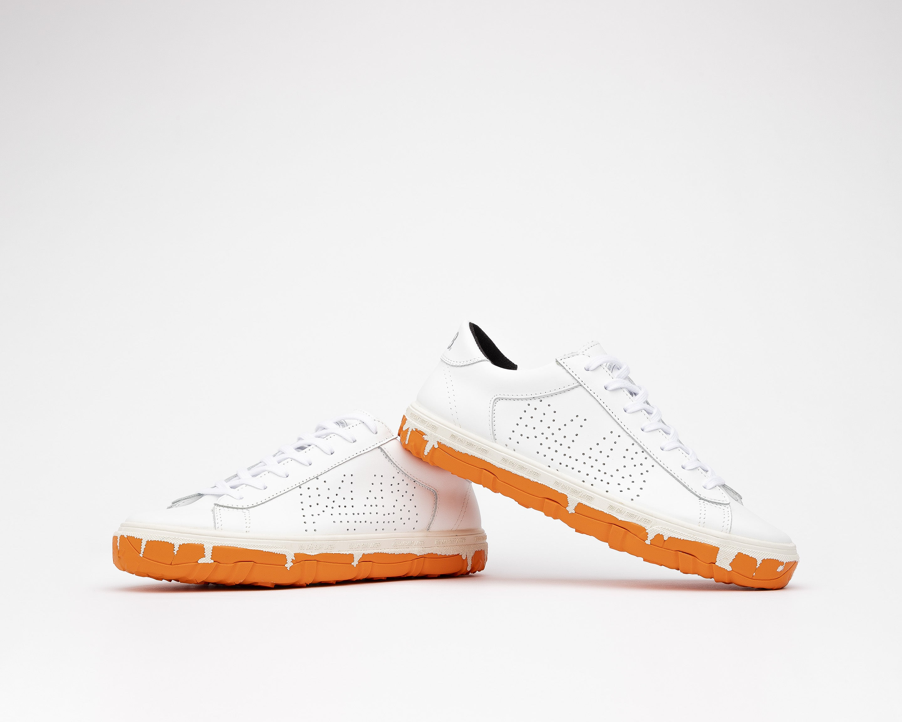 Y.C.S.L. Vibram Low-Top Sneaker in White/Orange - Detail