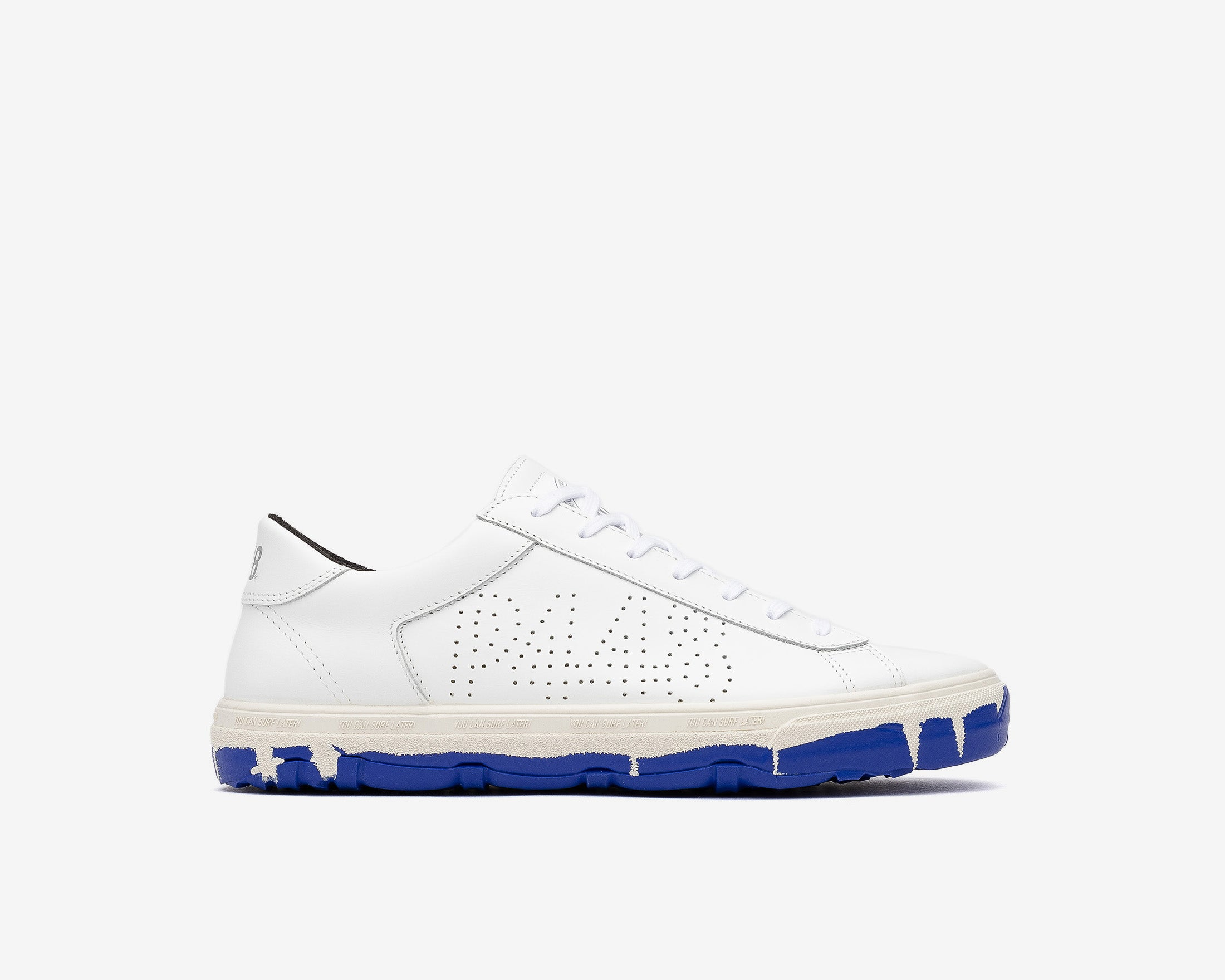 Y.C.S.L. Vibram Low-Top Sneaker in White/Royal - Profile