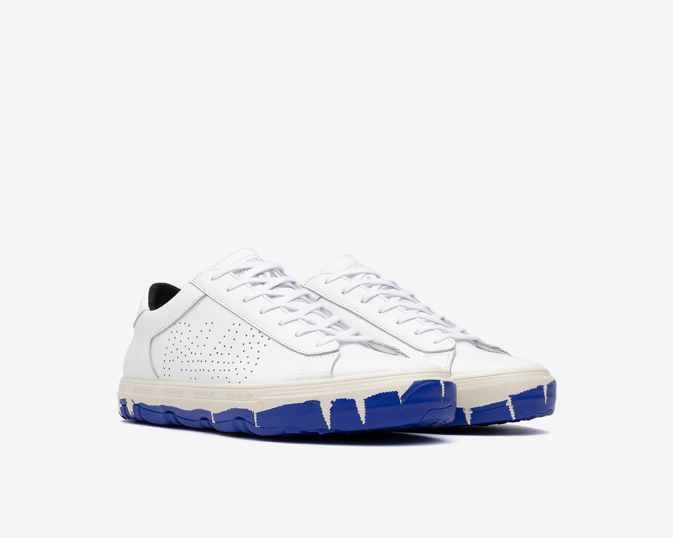 Y.C.S.L. Vibram Low-Top Sneaker in White/Royal - Side