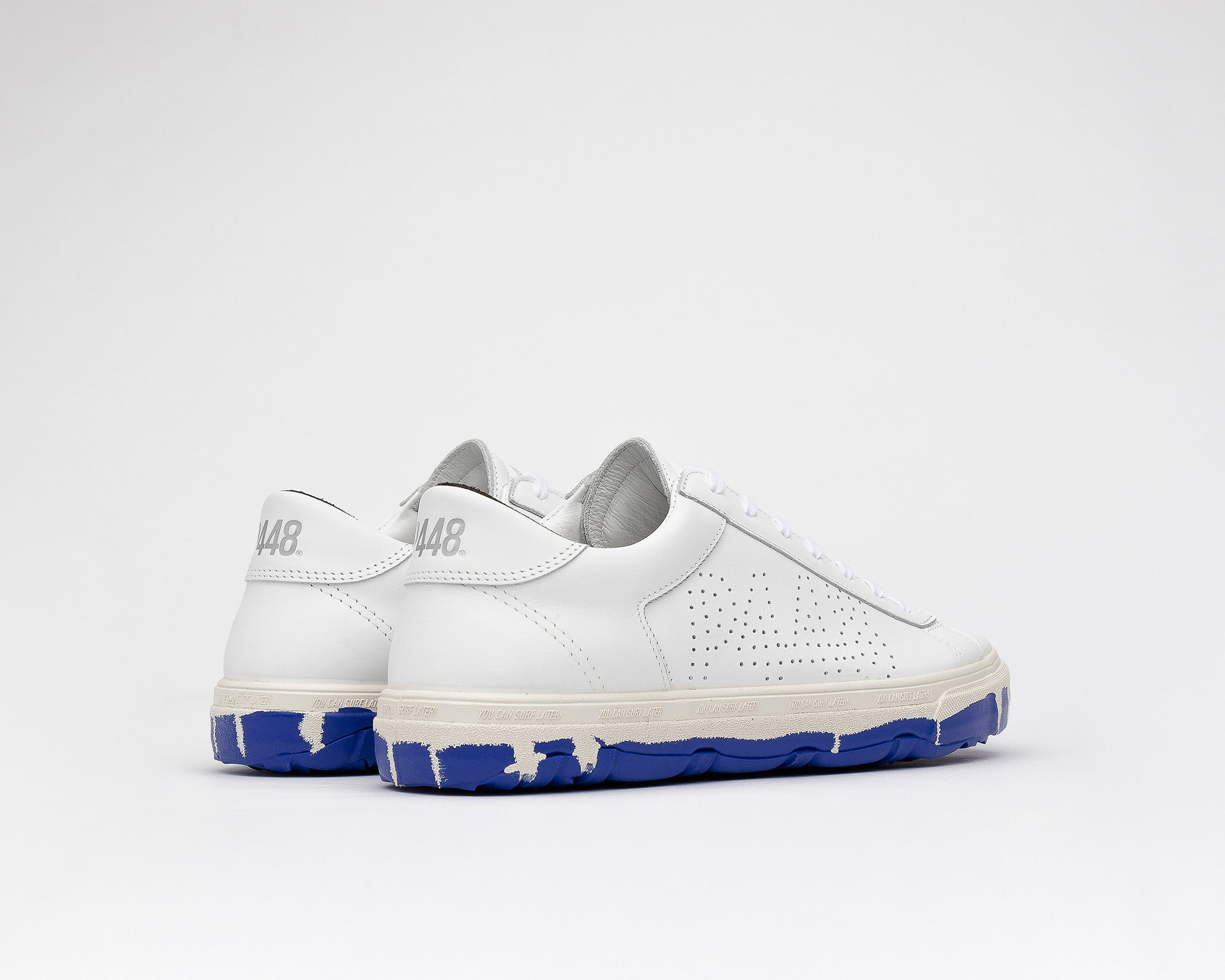 Y.C.S.L. Vibram Low-Top Sneaker in White/Royal - Back