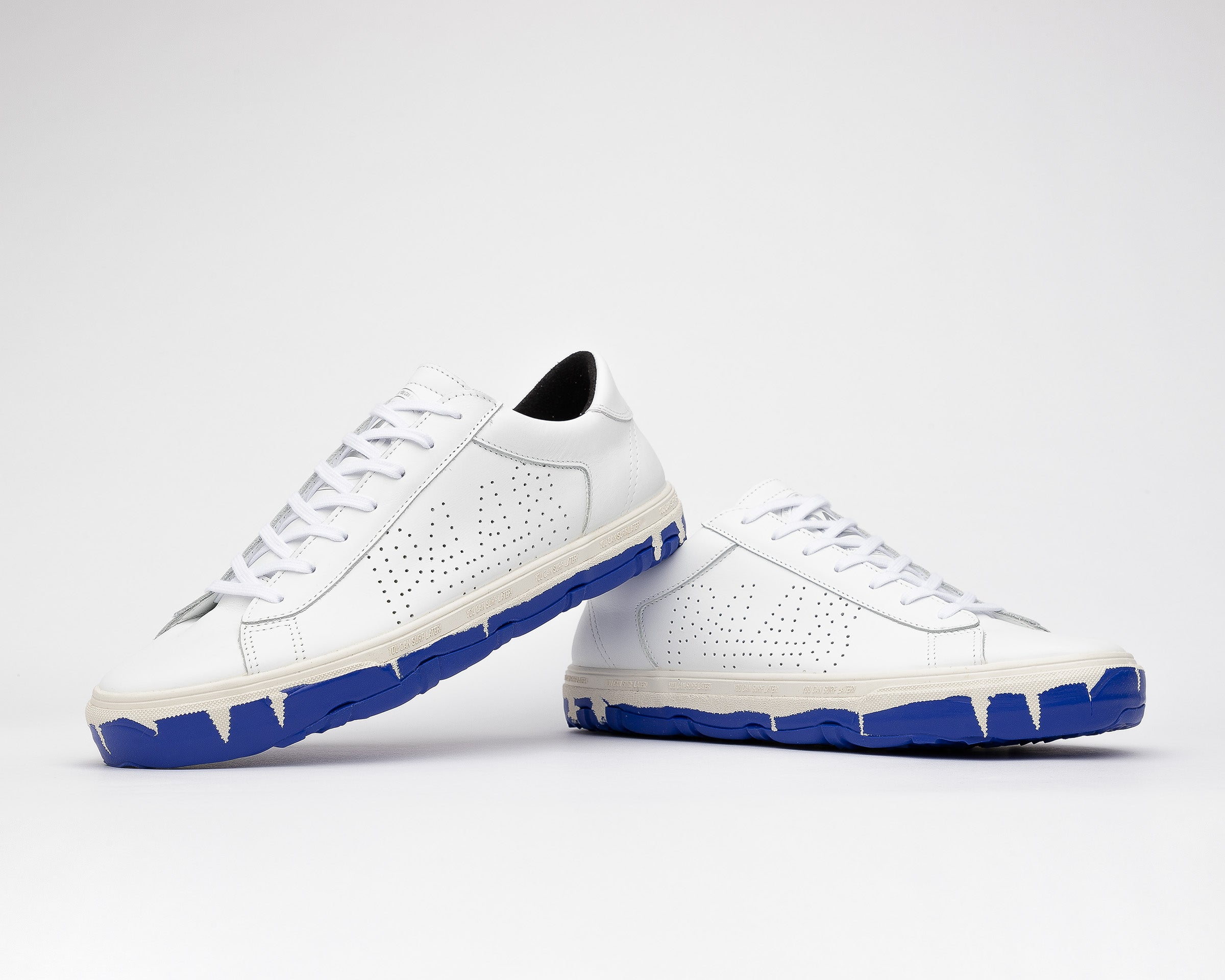Y.C.S.L. Vibram Low-Top Sneaker in White/Royal - Detail 3