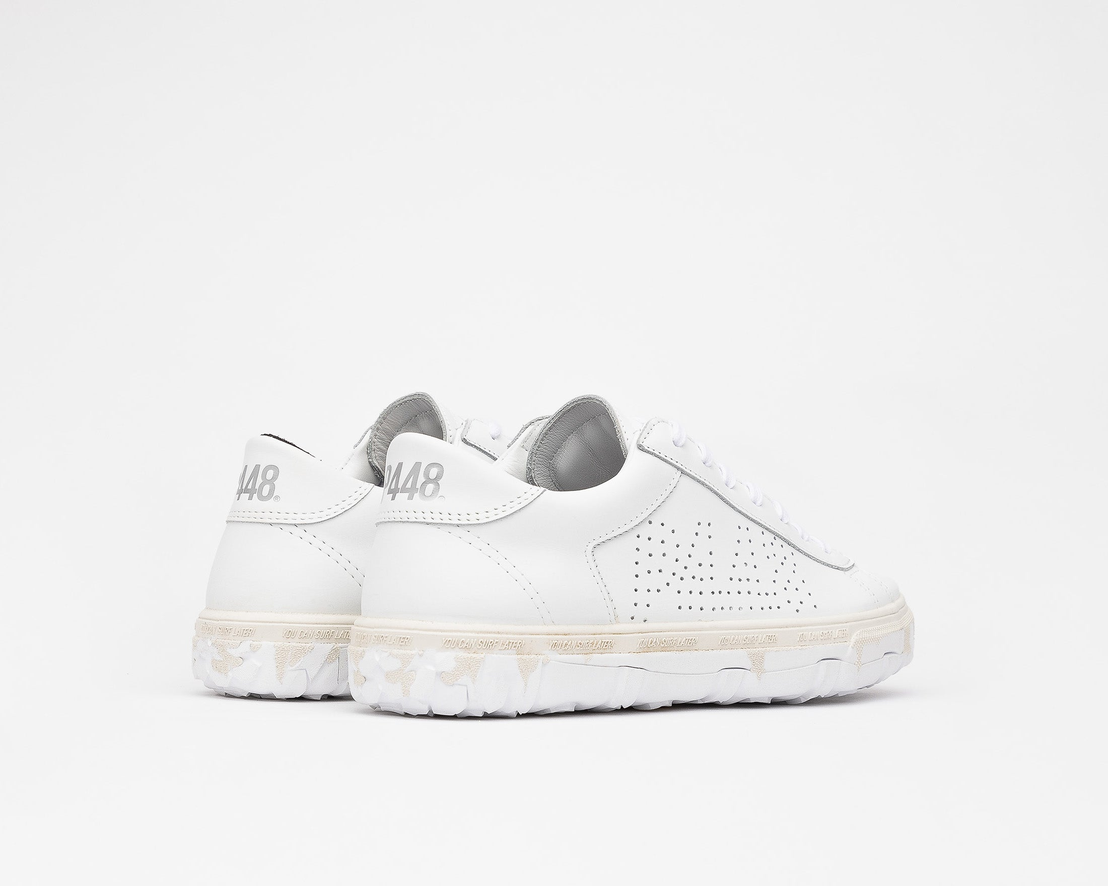 Y.C.S.L. Vibram Low-Top Sneaker in White/White - Back