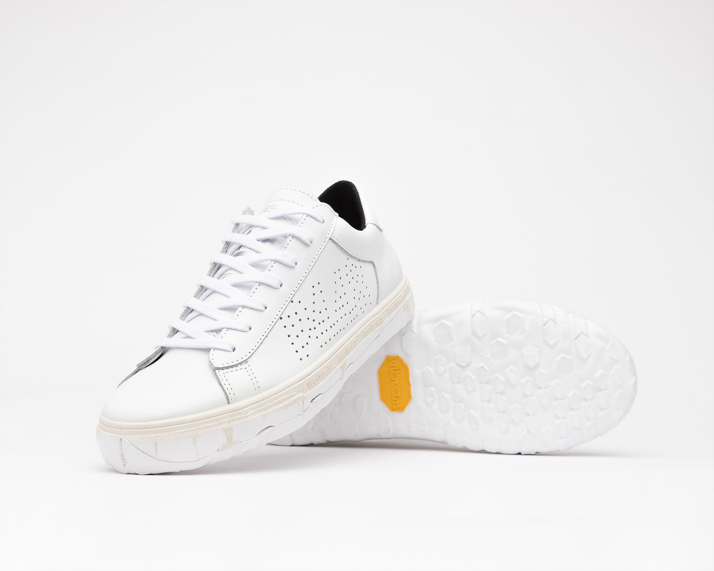 Y.C.S.L. Vibram Low-Top Sneaker in White/White - Detail 2