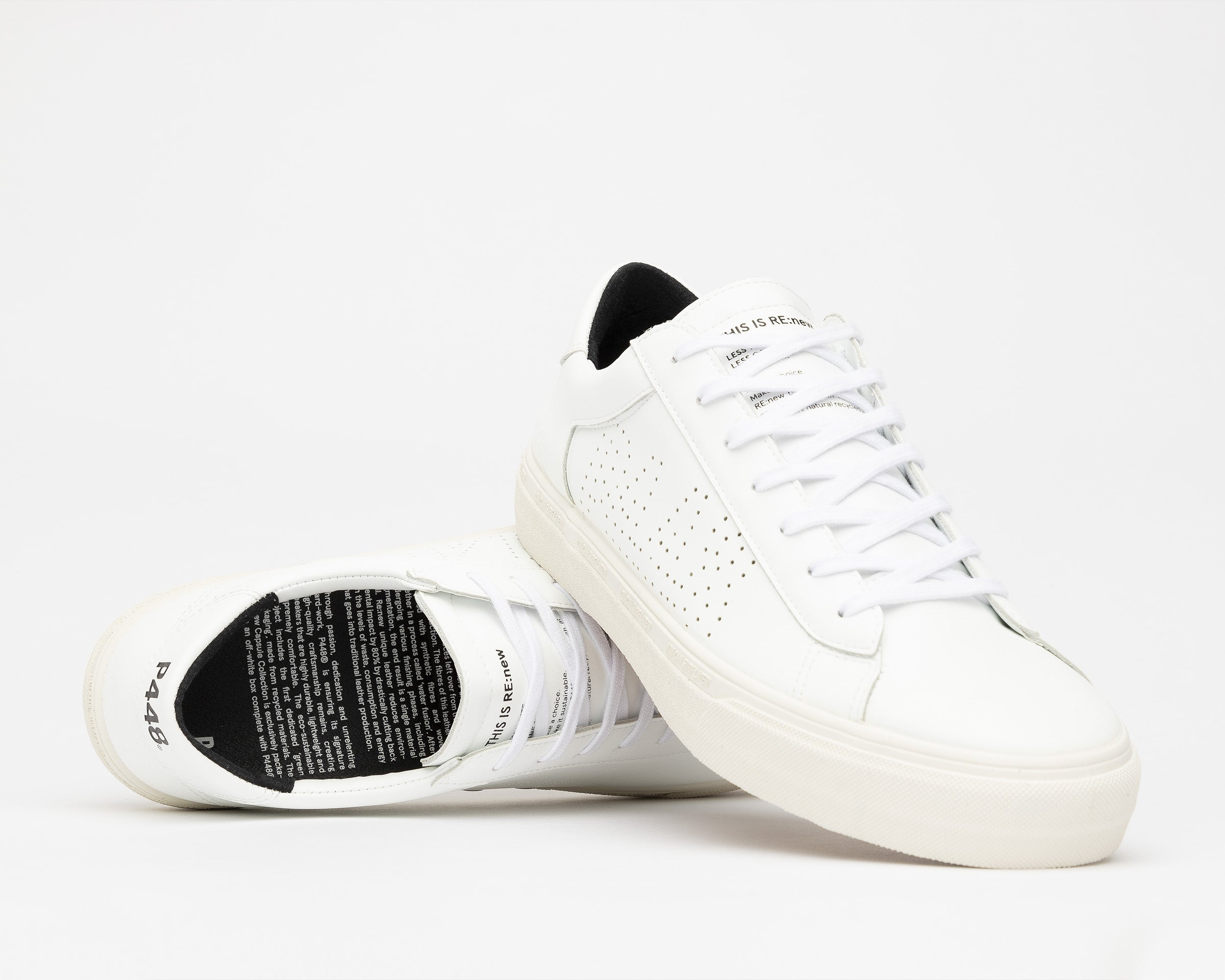 Y.C.S.L. Low-Top Volcanized Sneaker in WhiteR-M - Detail 1