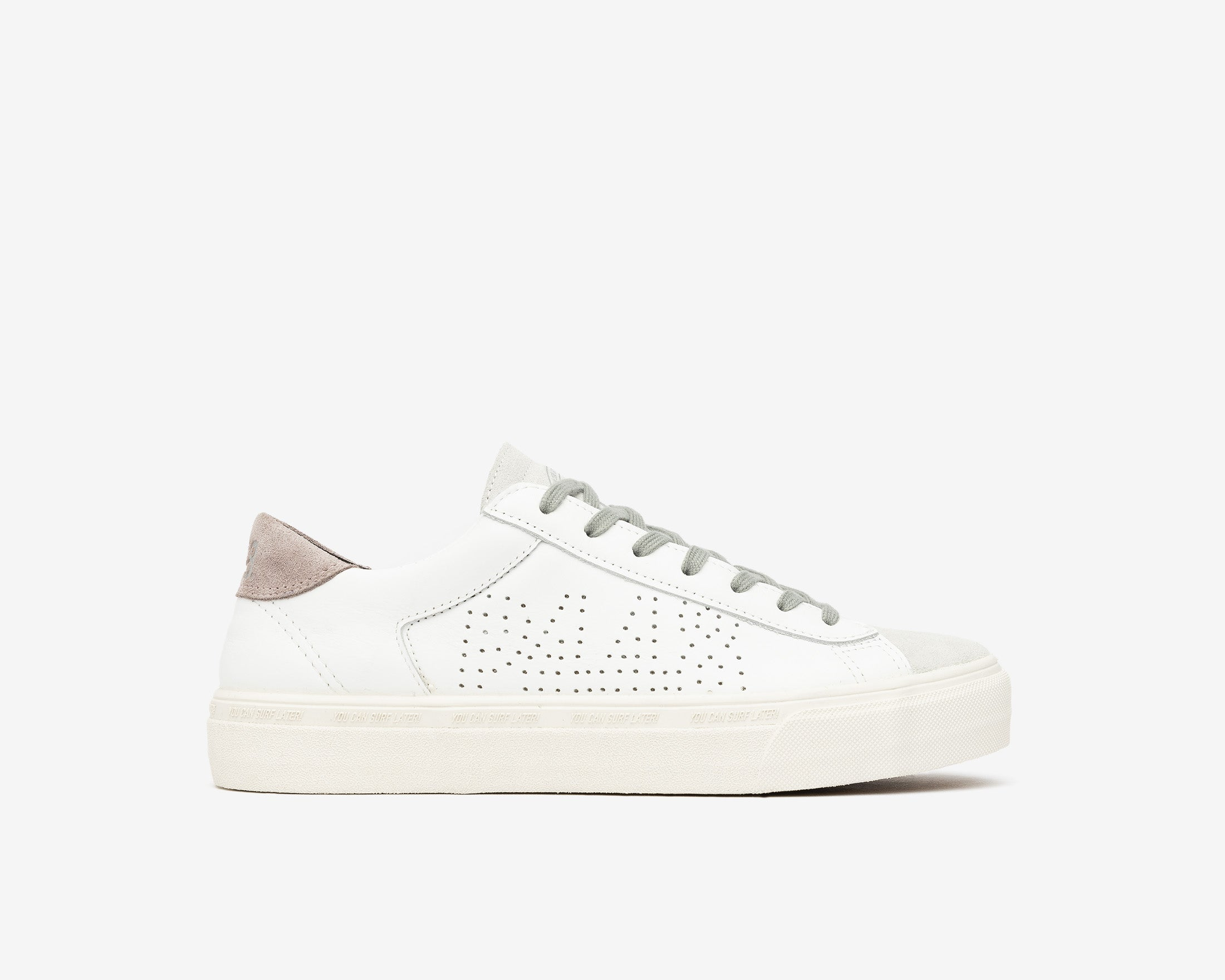 Y.C.S.L. Vibram Low-Top Sneaker in White/Pink - Profile