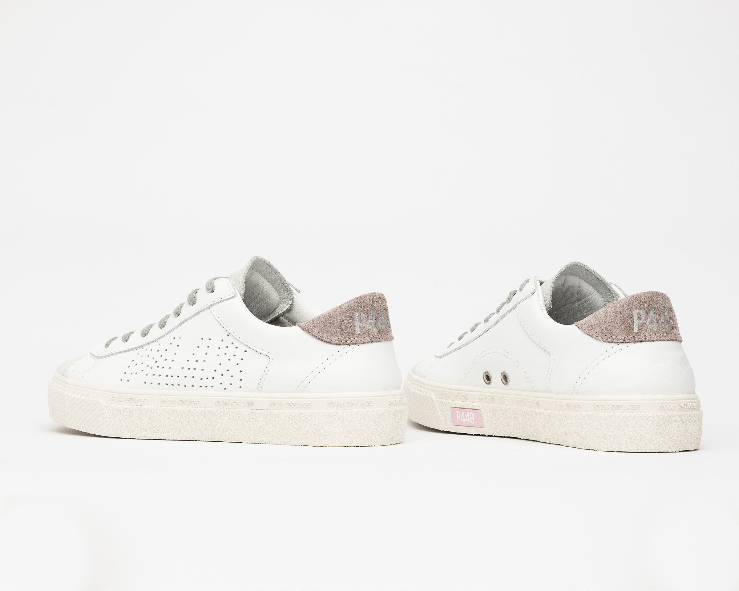 Y.C.S.L. Vibram Low-Top Sneaker in White/Pink - Detail 2