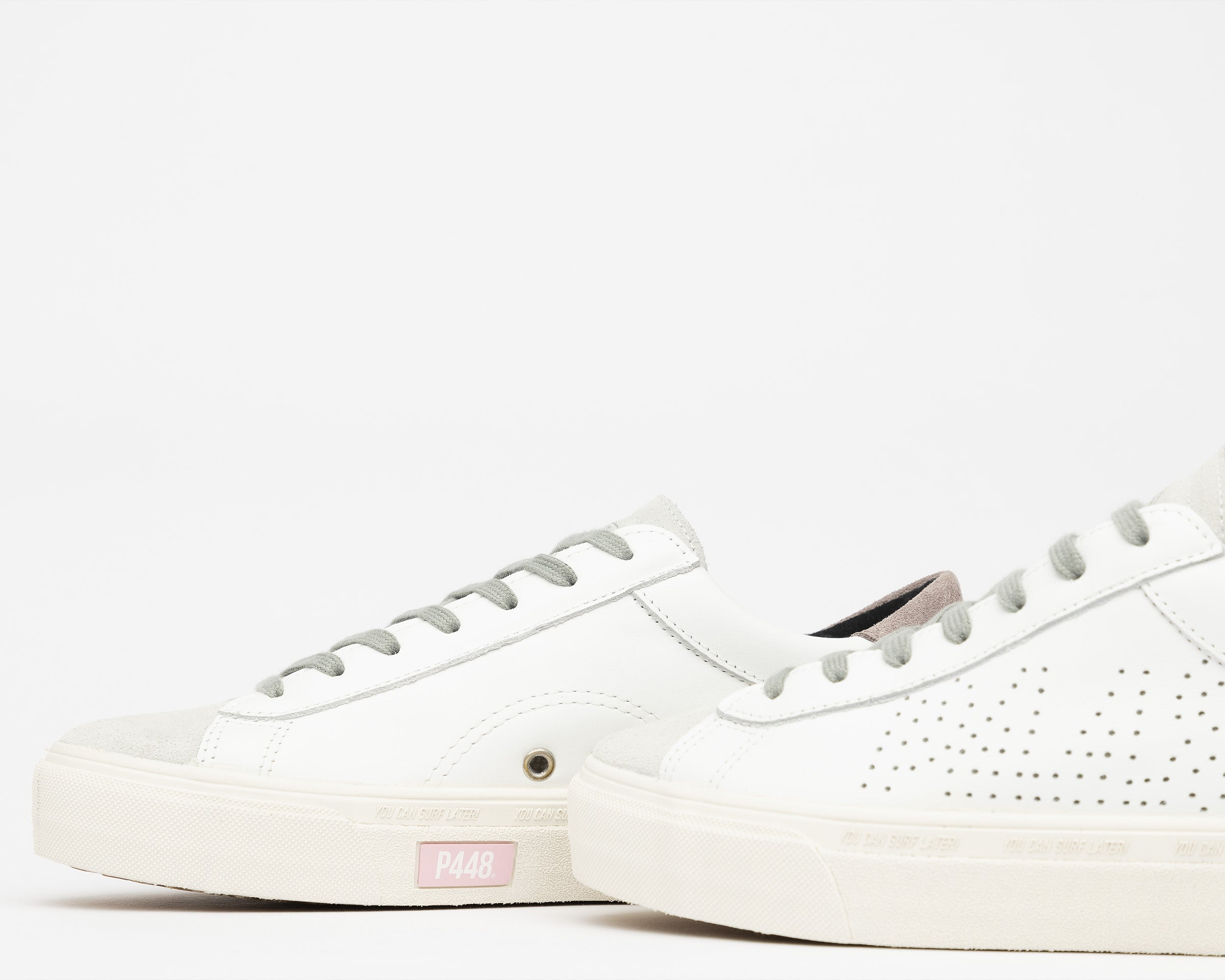Y.C.S.L. Vibram Low-Top Sneaker in White/Pink - Detail 3