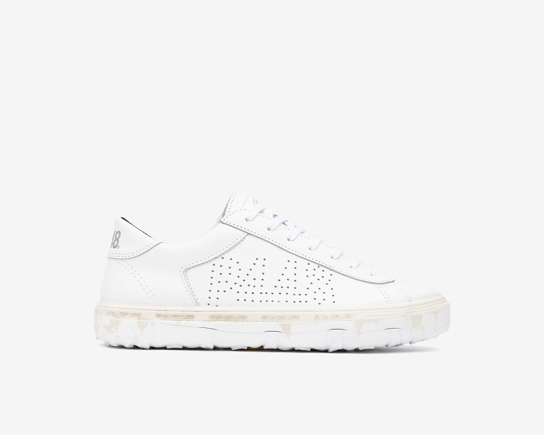 Y.C.S.L. Vibram Low-Top Sneaker in White/White - Profile