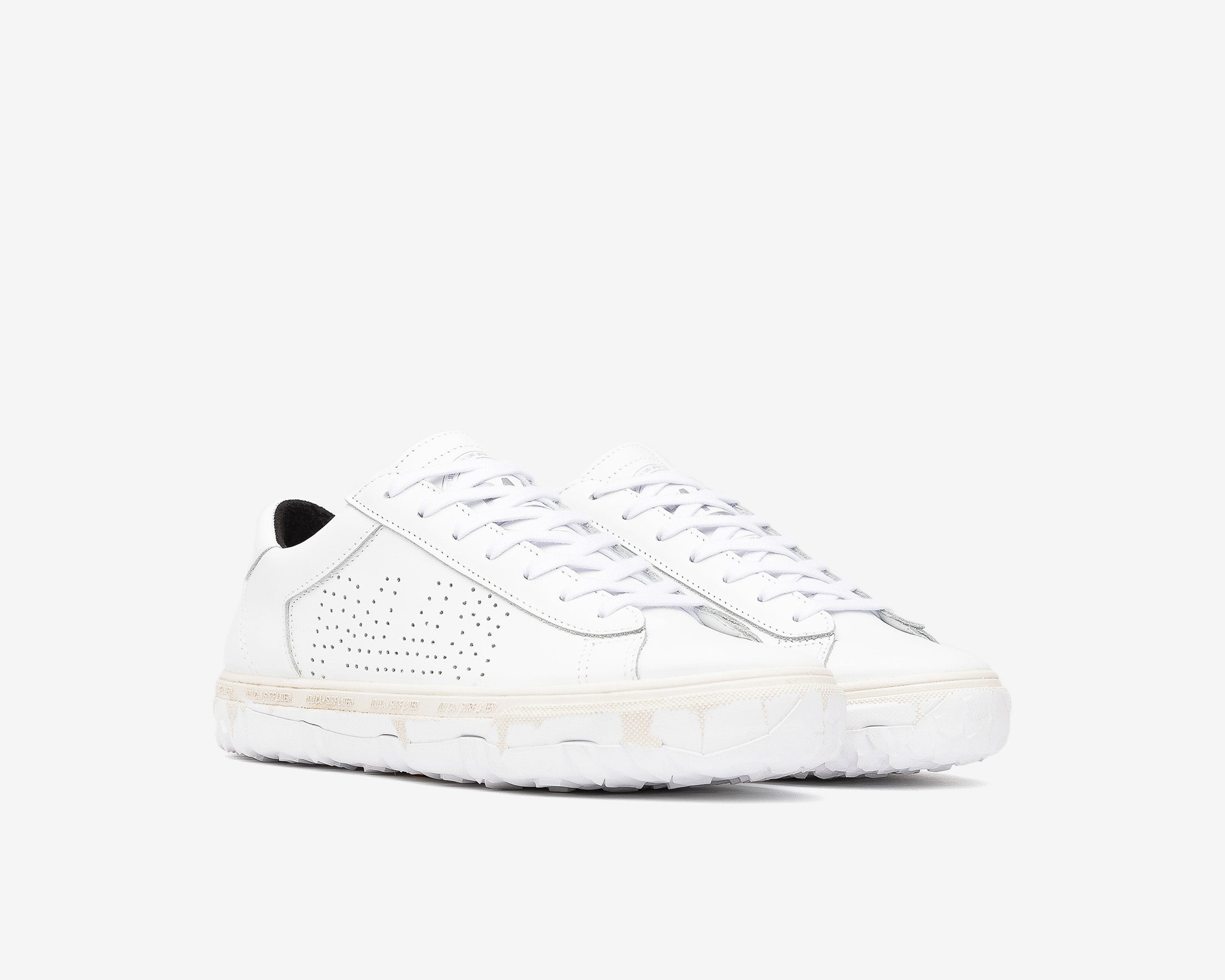 Y.C.S.L. Vibram Low-Top Sneaker in White/White - Side
