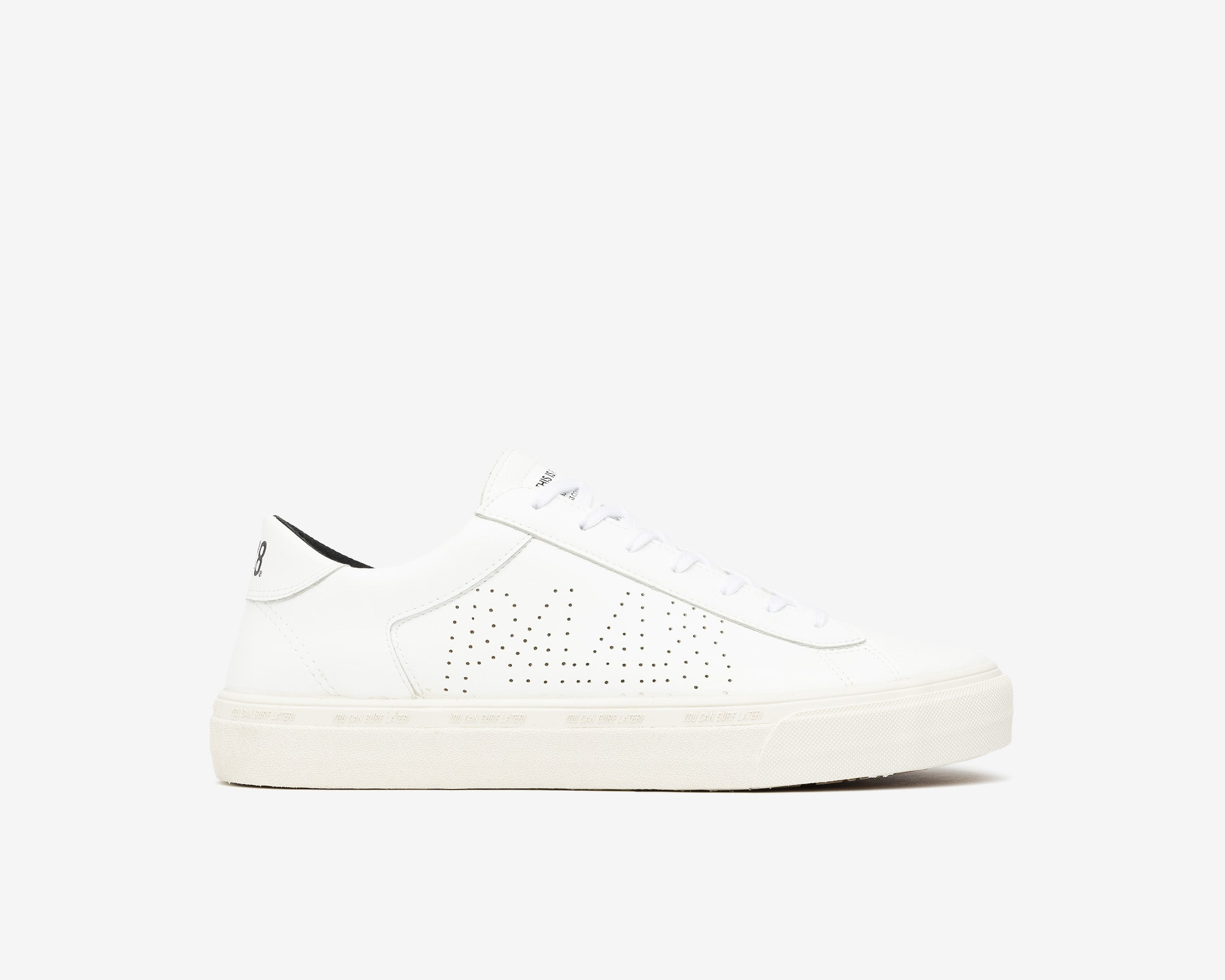 Y.C.S.L. Low-Top Volcanized Sneaker in WhiteR - Profille