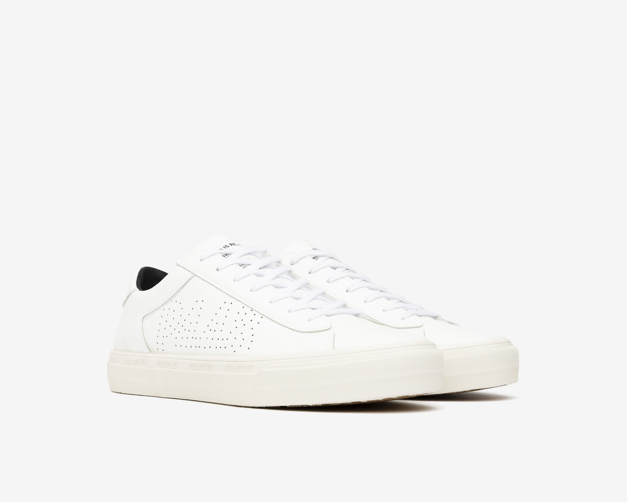 Y.C.S.L. Low-Top Volcanized Sneaker in WhiteR - Side