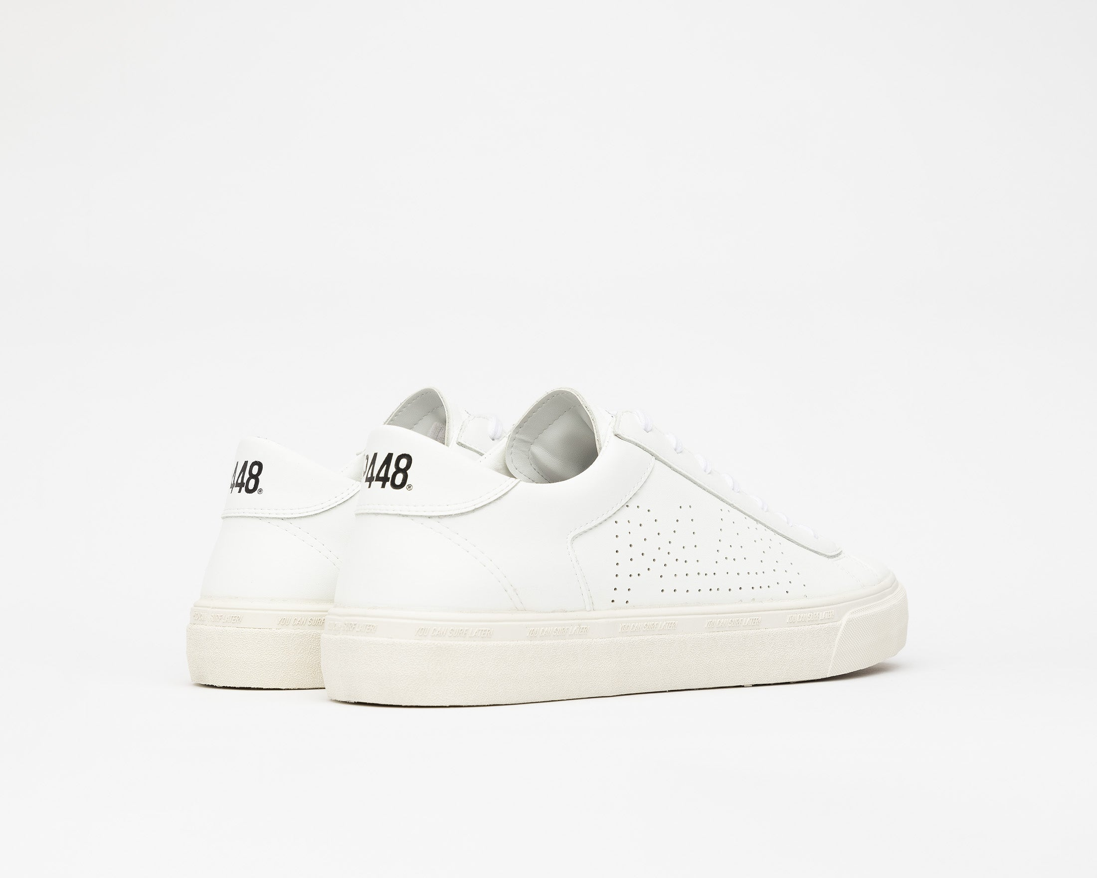 Y.C.S.L. Low-Top Volcanized Sneaker in WhiteR - Back
