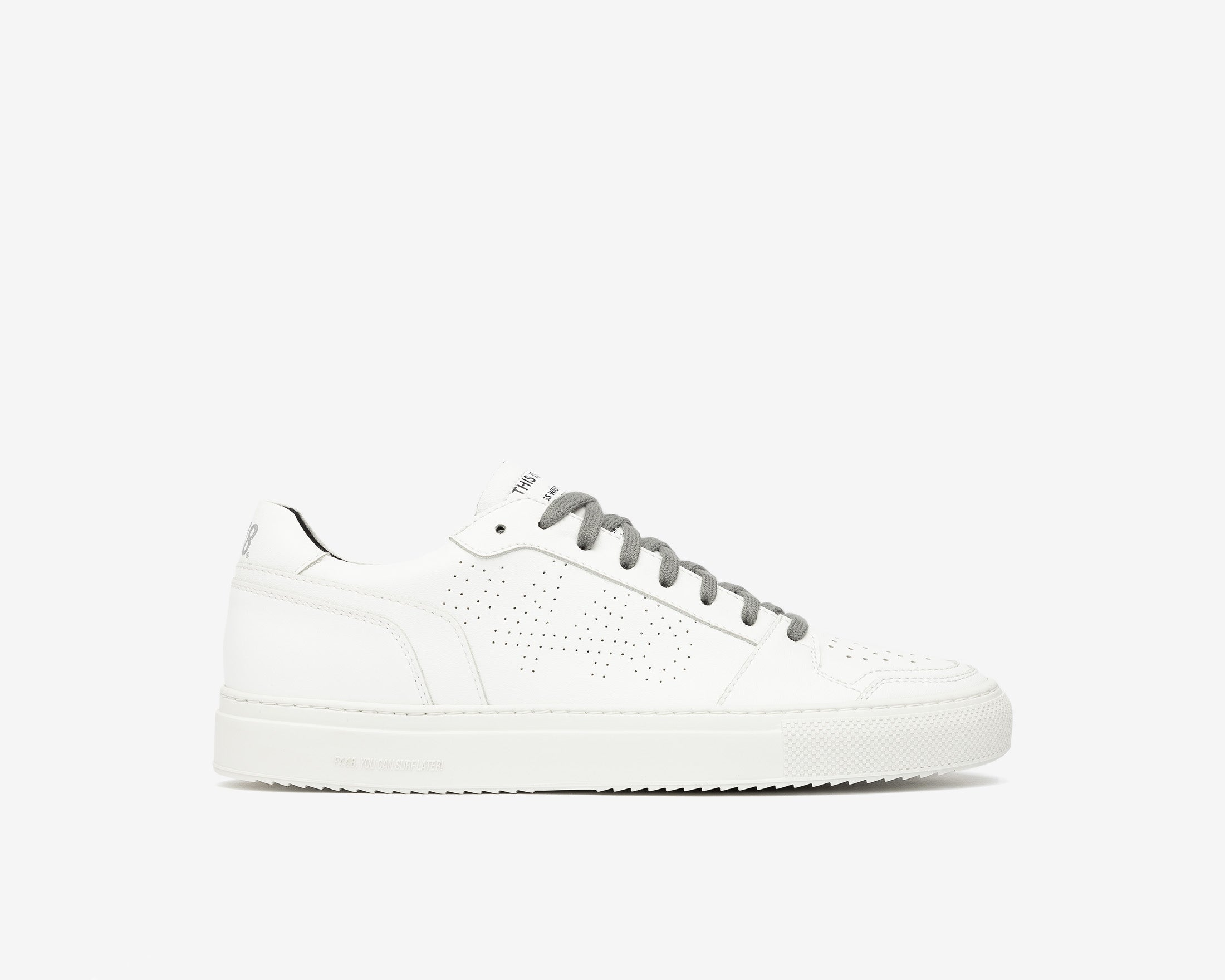 Zac Low-Top Sneaker in WhiteR Recycled Leather - Profile