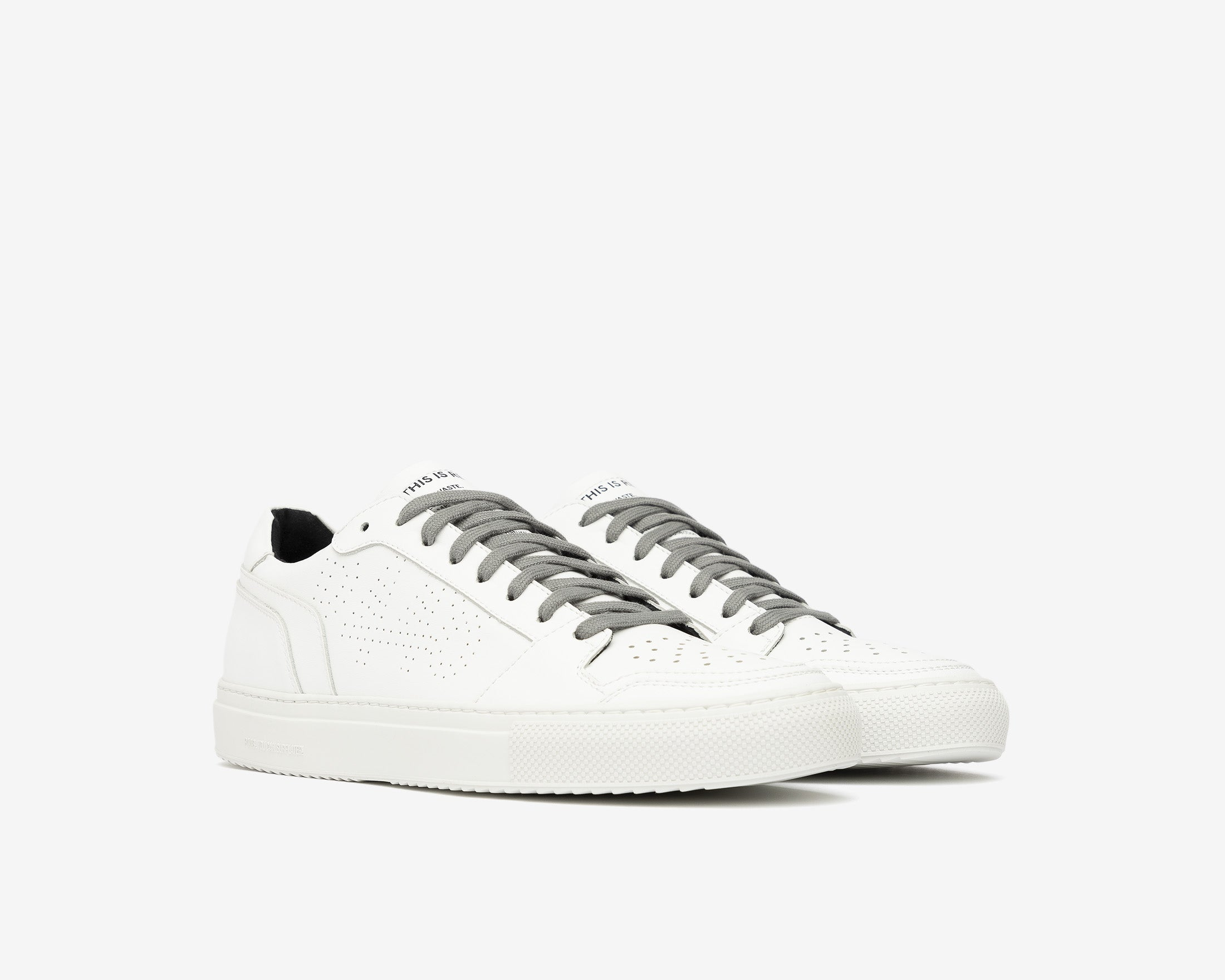 Zac Low-Top Sneaker in WhiteR Recycled Leather - Side