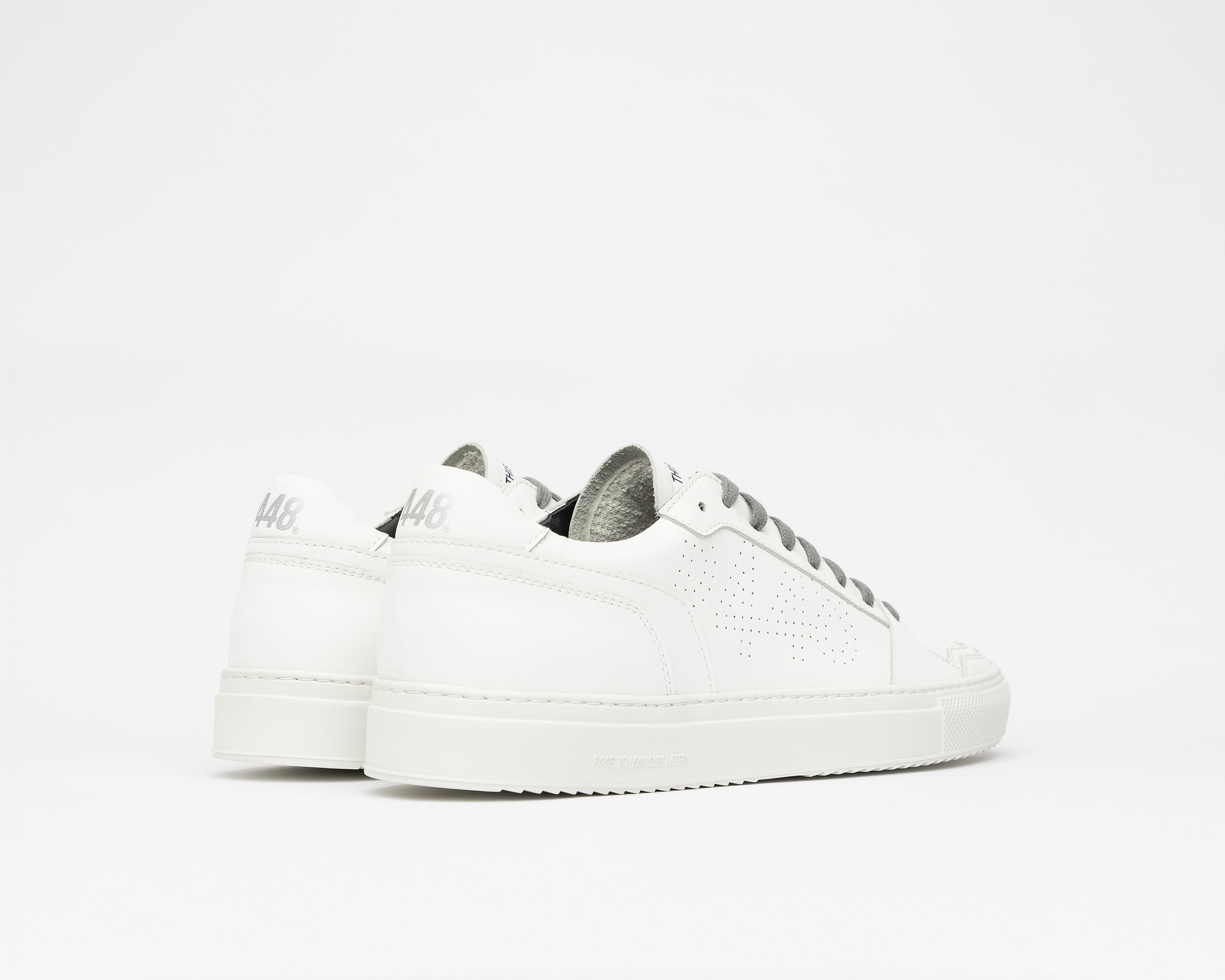Zac Low-Top Sneaker in WhiteR Recycled Leather - Back