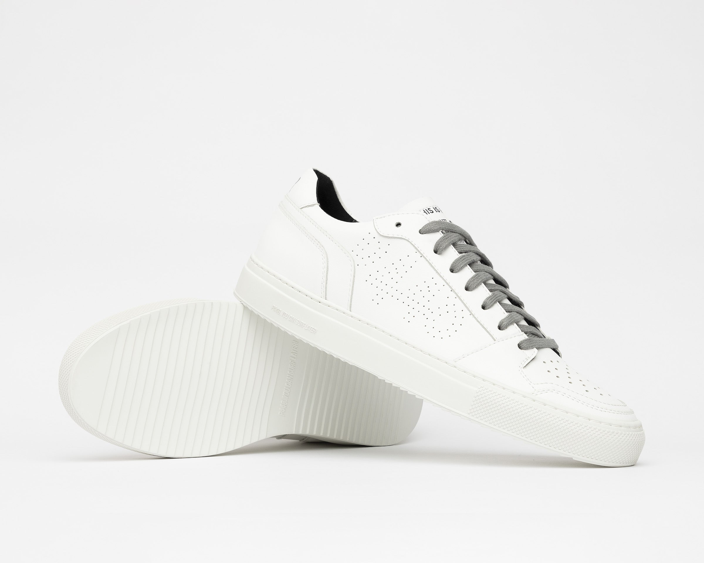 Zac Low-Top Sneaker in WhiteR Recycled Leather - Detail 1
