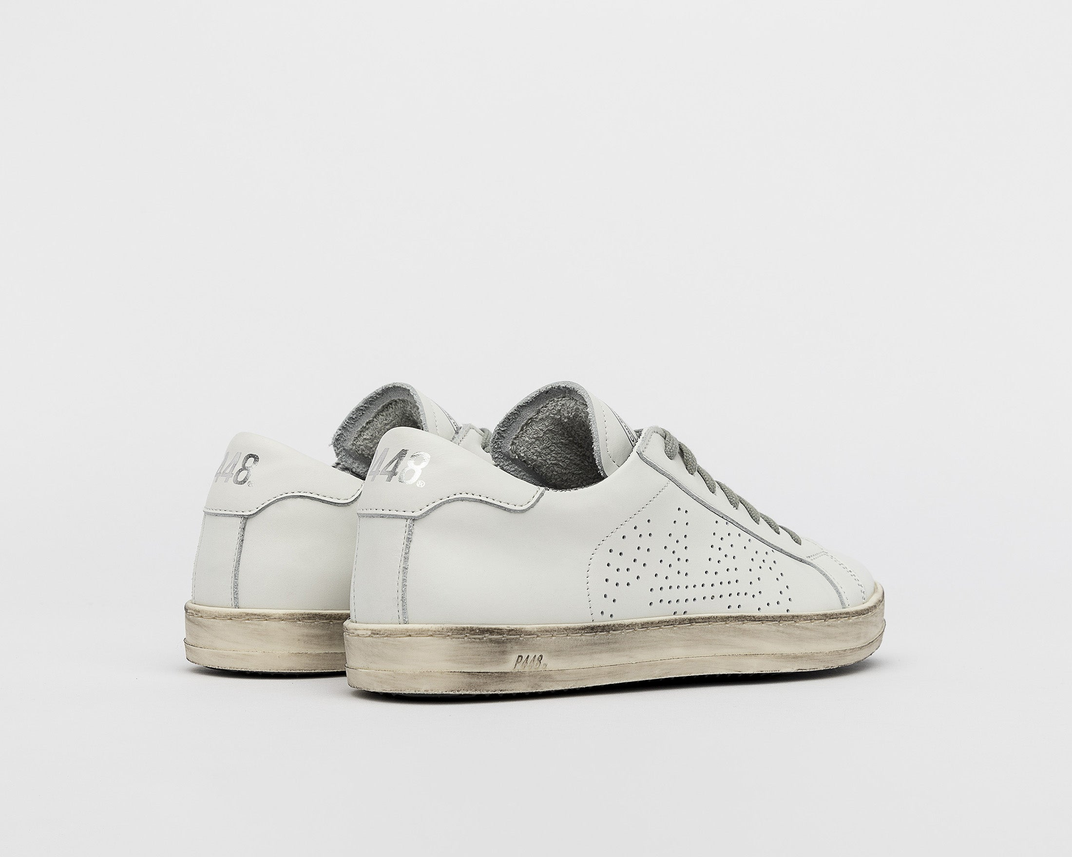 John Low-Top Sneaker - White - Back