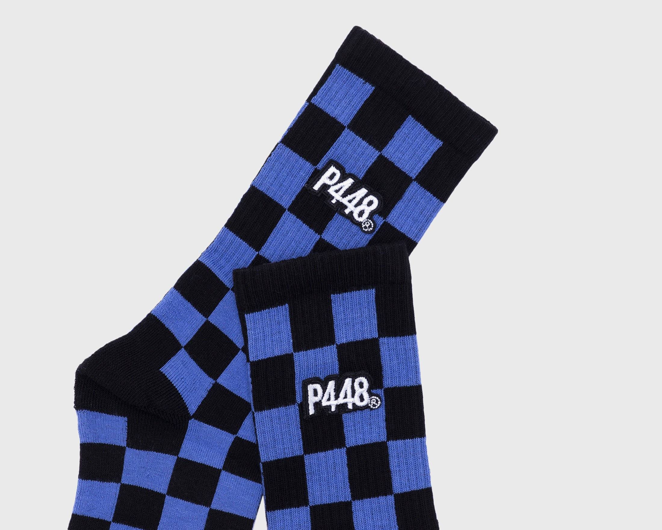 Socks Black/Blue Check - Detail