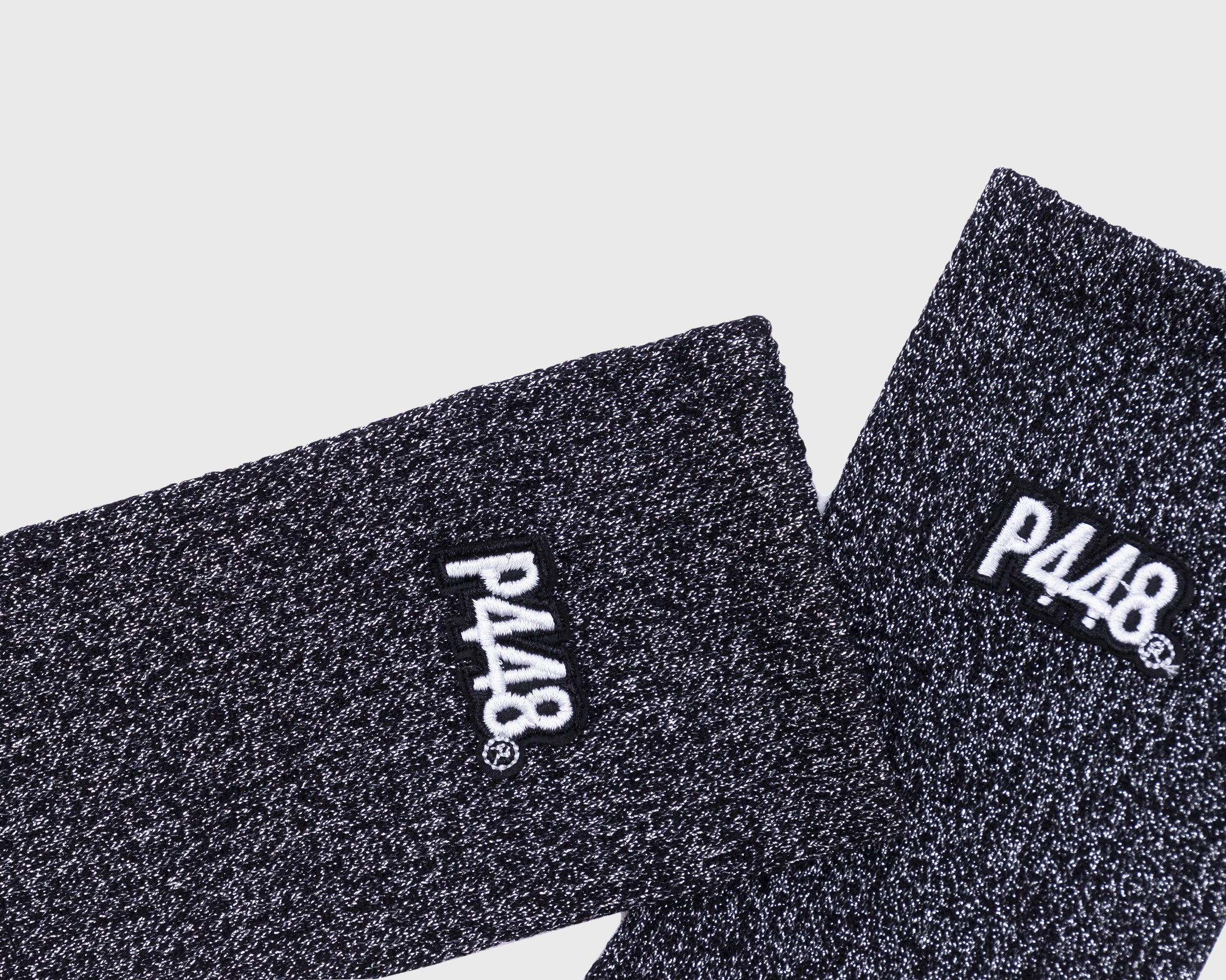 P448 Sock Black Glitter Detail